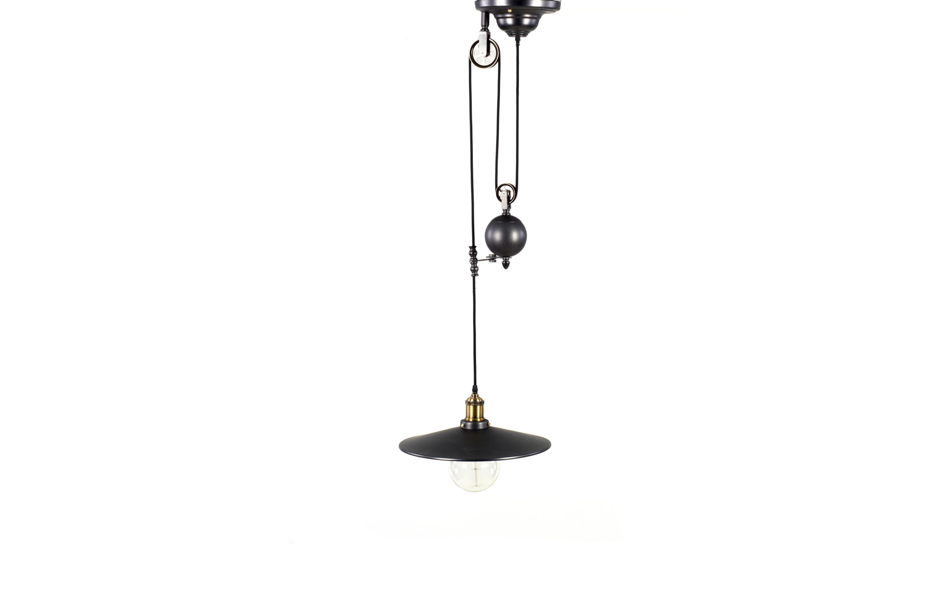 Подвесной светильникПодвесные светильники<br>&amp;lt;div&amp;gt;Только тщательно подобранные детали создают идеальный интерьер. Подвесной светильник из черного металла от бренда То4rooms подойдет для винтажных и лофтовых интерьеров, где у каждой вещи — своя история. Он похож на элемент механизма, а плафон напоминает то ли диск, то ли крышку. Такая лампа обретет смысл в интерьерах, свободных от типовых решений.&amp;lt;/div&amp;gt;&amp;lt;div&amp;gt;&amp;lt;br&amp;gt;&amp;lt;/div&amp;gt;Лампа потолочная, 1 ламп, Е27, мощность 60W&amp;amp;nbsp;<br><br>Material: Металл<br>Length см: 36<br>Width см: 36<br>Height см: 96