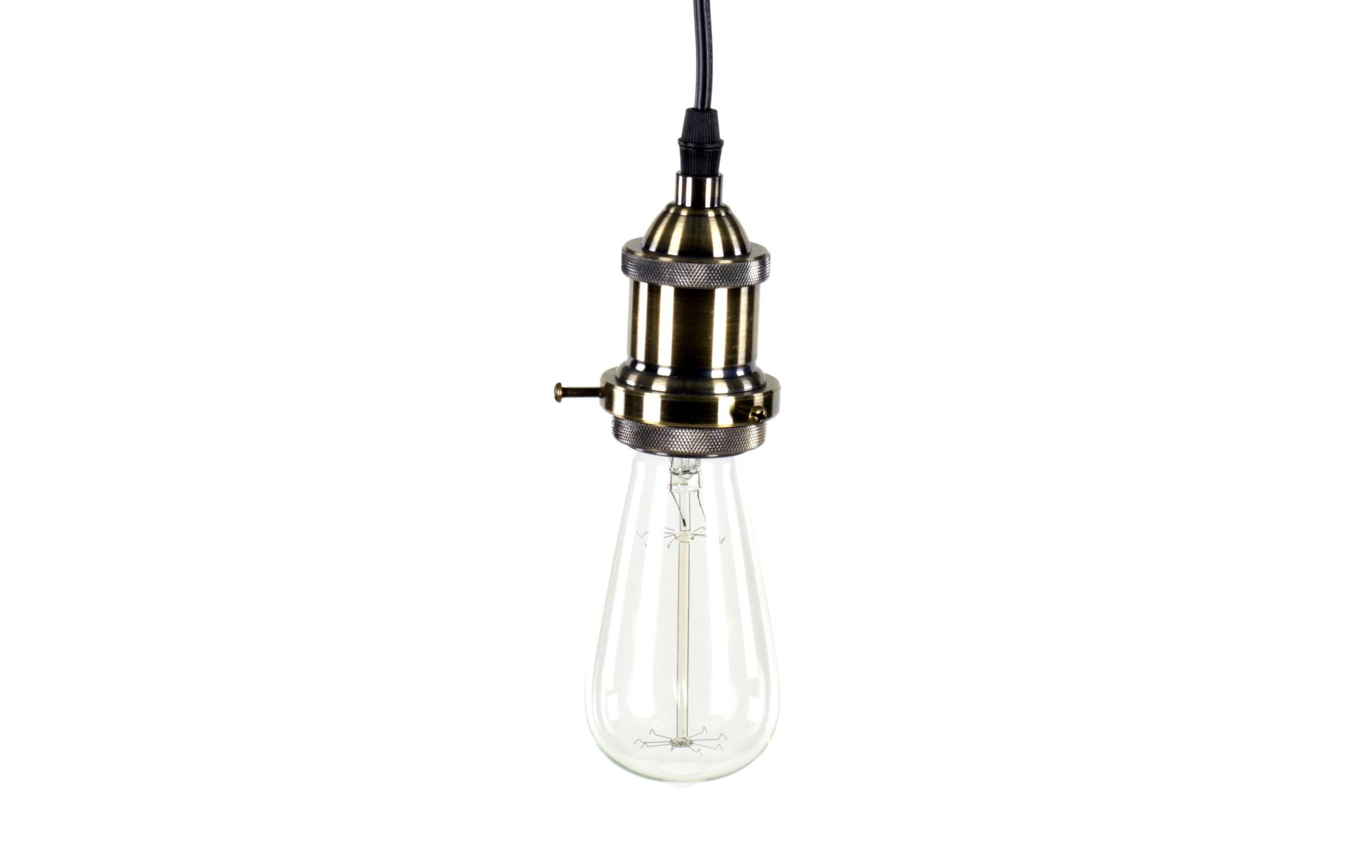 Светильник IndustrialПодвесные светильники<br>Светильник в стиле индастриал – то, что нужно в современном интерьере в духе хай-тек, поп-арт или ар-деко. Изготовлен из металла, окрашенного в серый цвет, снабжен цоколем типа Е27 для лампы мощностью 60 Вт. Лампа Эдиссона в комплект не входит.<br><br>Material: Металл<br>Height см: 150<br>Diameter см: 8