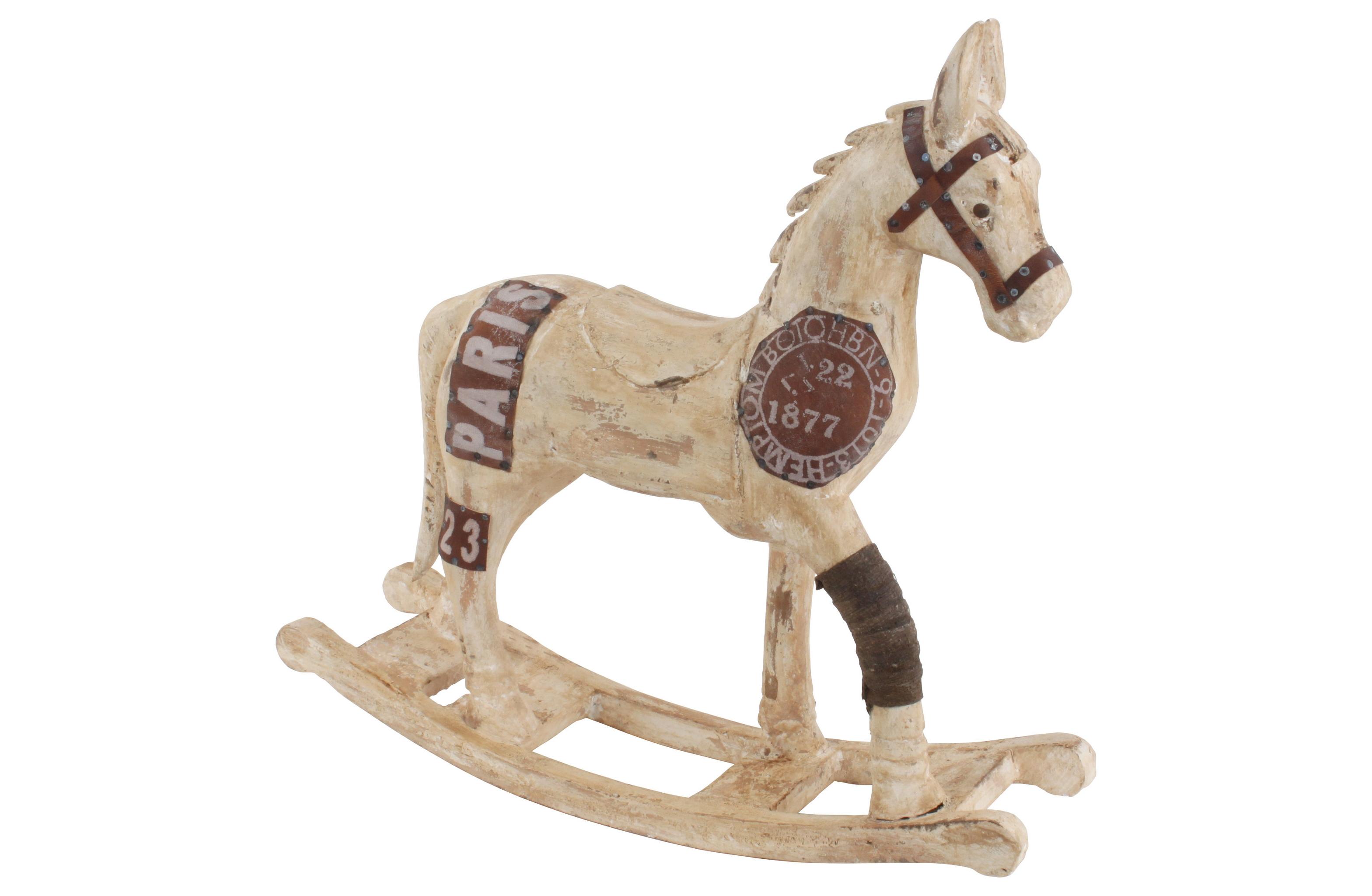 Декоративная лошадьДругое<br>Помните в далеком советском прошлом у детей были деревянные лошадки, которые плавно раскачивались в сторону? Это статуэтка — уменьшенная копия известной игрушки, готовая перевоплотиться в роль декоративного элемента. Она дополнит любой интерьер, которому созвучна ностальгическая атмосфера счастливо-беззаботного детства.&amp;amp;nbsp;<br><br>Material: Дерево<br>Ширина см: 14<br>Высота см: 54