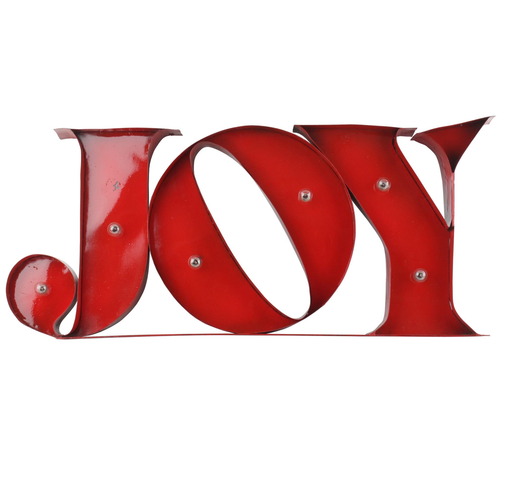 Вывеска настенная с подсветкойДругое<br>&amp;lt;div&amp;gt;Это вывеска уверенно призывает не терять ни минуты и радоваться жизни здесь и сейчас, ведь joy означает &amp;quot;радость&amp;quot;. Ее присутствие в любом месте дома или квартиры будет заряжать позитивом, наполняя &amp;amp;nbsp;силами для новых свершений. Буквы нарочно неровно расположены, создавая впечатление легкой игривости и беззаботности.&amp;lt;/div&amp;gt;&amp;lt;div&amp;gt;&amp;lt;br&amp;gt;&amp;lt;/div&amp;gt;Вывеска с подсветкой<br><br>Material: Металл<br>Ширина см: 76.0<br>Высота см: 32.0<br>Глубина см: 6.0