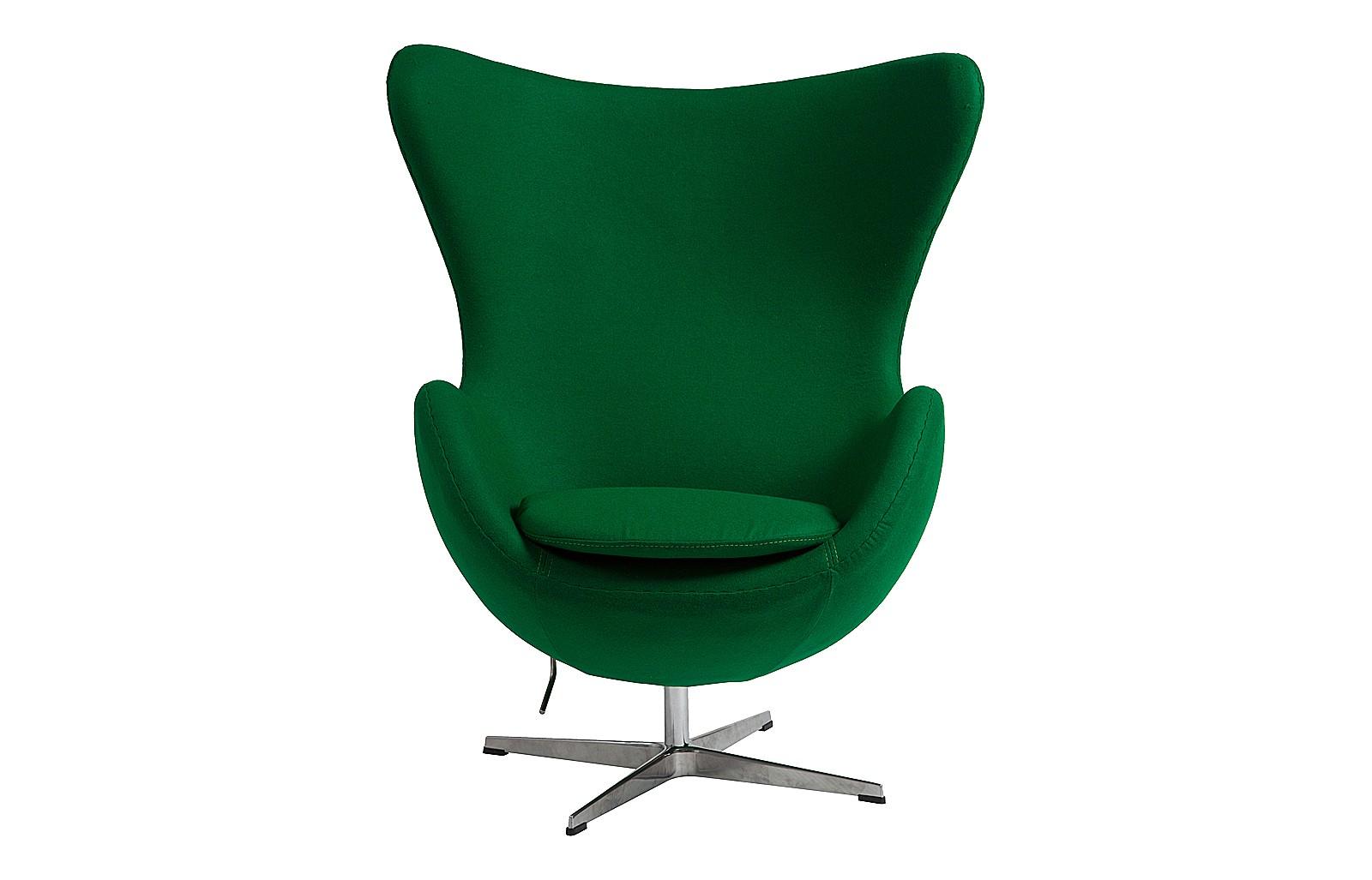 Кресло Egg ChairКресла с высокой спинкой<br>Легендарное кресло в форме яйца от Арне Якобсена — концептуальный предмет интерьера и психологически комфортная мебель. Именно в таком кресле хочется максимально расслабиться, приняв удобную позу: откинуться на спинку или навалиться на край кресла, вытянувшись всем телом. Ярко-зеленый цвет добавляют образу харизмы и уверенности в том, что все будет хорошо!<br><br>Material: Кашемир<br>Width см: 76<br>Depth см: 82<br>Height см: 105