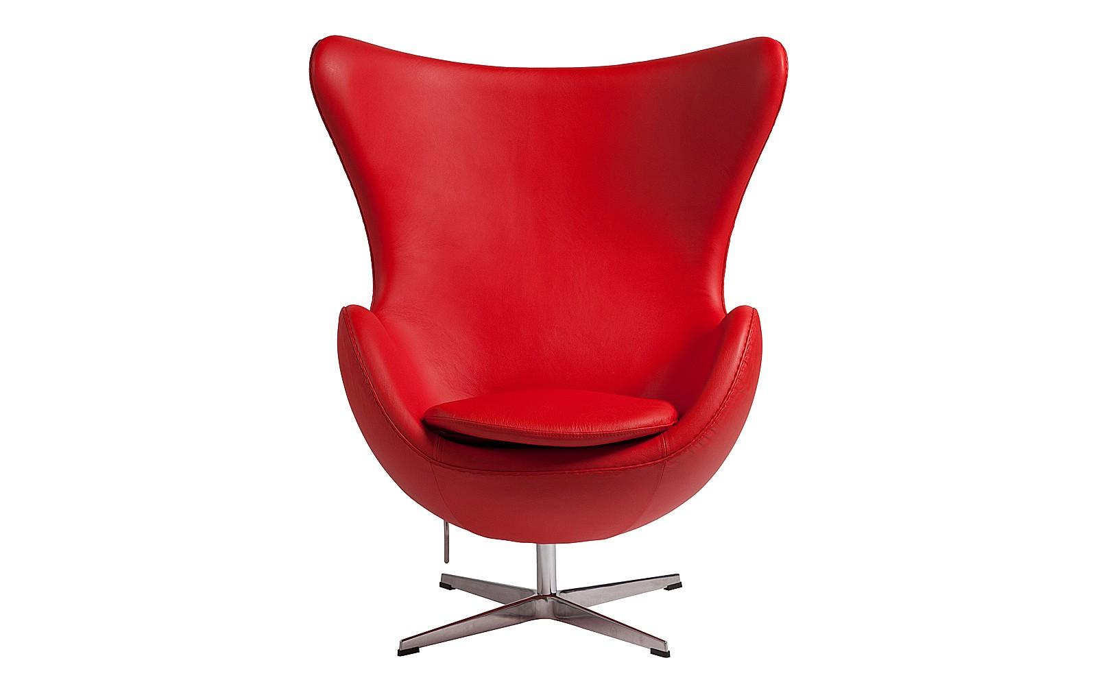 Кресло Egg ChairКожаные кресла<br>&amp;lt;span style=&amp;quot;line-height: 24.9999px;&amp;quot;&amp;gt;Ярко-красное кресло из натуральной кожи добавит&amp;amp;nbsp;экспрессии&amp;amp;nbsp;любому интерьеру. Оно без стеснения займет лучшее место, сконцентрировав внимание на своей персоне. &amp;amp;nbsp;&amp;quot;Egg Chair&amp;quot; создаст&amp;amp;nbsp;энергичное&amp;amp;nbsp;пространство, обладатели которого открыты к экспериментам и не бояться перемен. Но несмотря на эффектную внешность, это кресло настроит на отдых в комфорте и уединении.&amp;lt;/span&amp;gt;<br><br>Material: Кожа<br>Width см: 76<br>Depth см: 82<br>Height см: 105