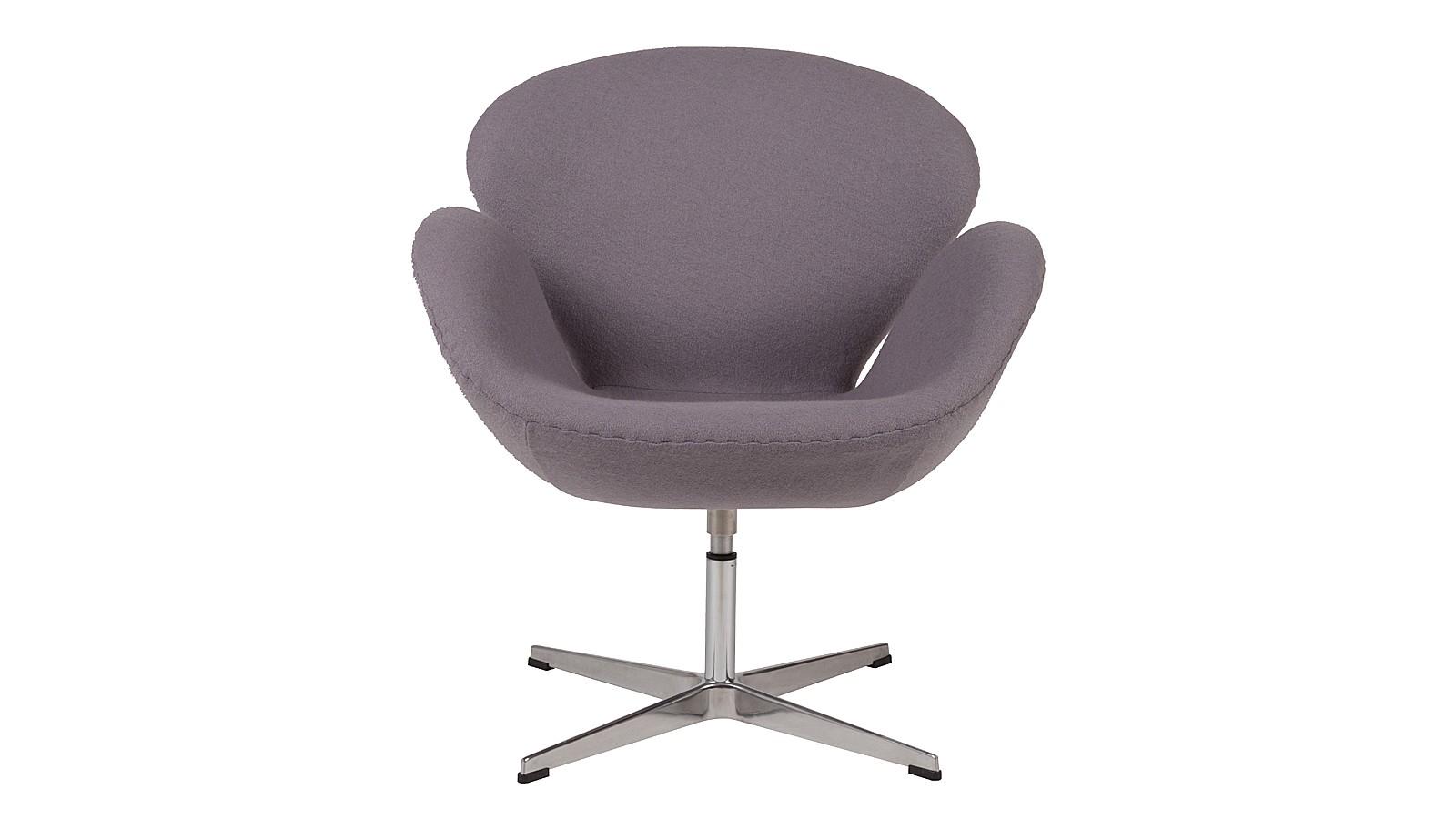 Кресло Swan ChairИнтерьерные кресла<br>&amp;lt;span style=&amp;quot;line-height: 24.9999px;&amp;quot;&amp;gt;Серое кресло &amp;quot;Swan Chair&amp;quot; за свою историю стало иконой стиля. Изначально оно было разработано для общественного интерьера, но, быстро завоевав симпатии ценителей креативной мебели, перекочевало в жилые пространства. Ненавязчивый цвет и мягкая обивка из шерсти делают его идеальным спутником любого интерьера. &amp;amp;nbsp;&amp;lt;/span&amp;gt;<br><br>Material: Шерсть<br>Width см: 70<br>Depth см: 71<br>Height см: 78