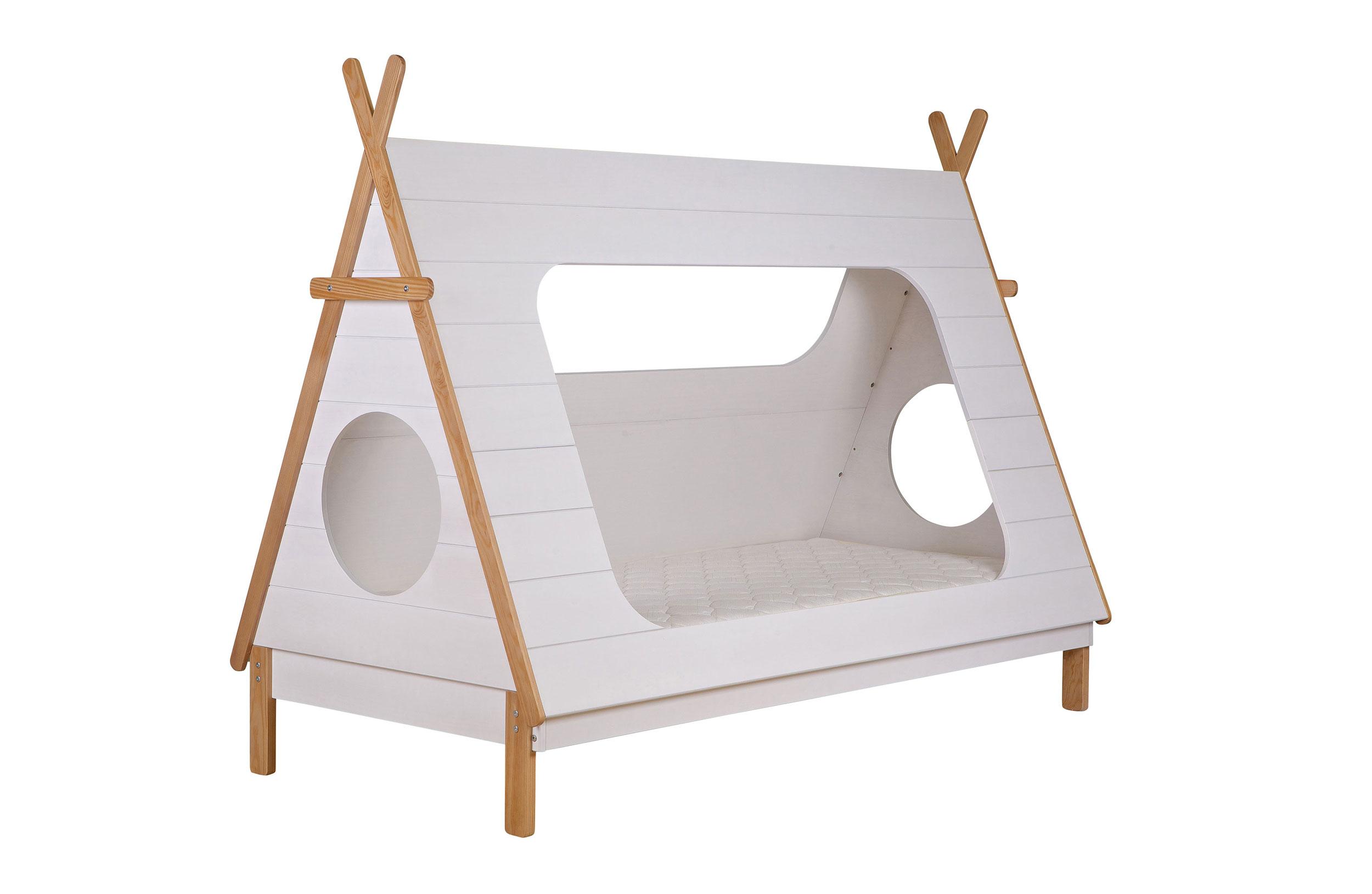 Кровать-вигвам Tipi BedДетские кроватки<br>Кровать выполнена в виде индейского вигвама. Спальное место 90х200 см.&amp;amp;nbsp;&amp;lt;div&amp;gt;Решетка включена в стоимость.&amp;amp;nbsp;&amp;lt;span style=&amp;quot;line-height: 1.78571;&amp;quot;&amp;gt;Без матраса.&amp;amp;nbsp;&amp;lt;/span&amp;gt;&amp;lt;div&amp;gt;&amp;lt;div&amp;gt;Цвет: белый.&amp;amp;nbsp;&amp;lt;/div&amp;gt;&amp;lt;div&amp;gt;Размеры: 215х163х106см&amp;amp;nbsp;&amp;lt;/div&amp;gt;&amp;lt;div&amp;gt;Поставляется в разобранном виде в плоской упаковке с подробной инструкцией по сборке. <br>Легко собрать самостоятельно.&amp;lt;/div&amp;gt;&amp;lt;/div&amp;gt;&amp;lt;/div&amp;gt;<br><br>Material: Текстиль<br>Ширина см: 215.0<br>Высота см: 163<br>Глубина см: 106.0