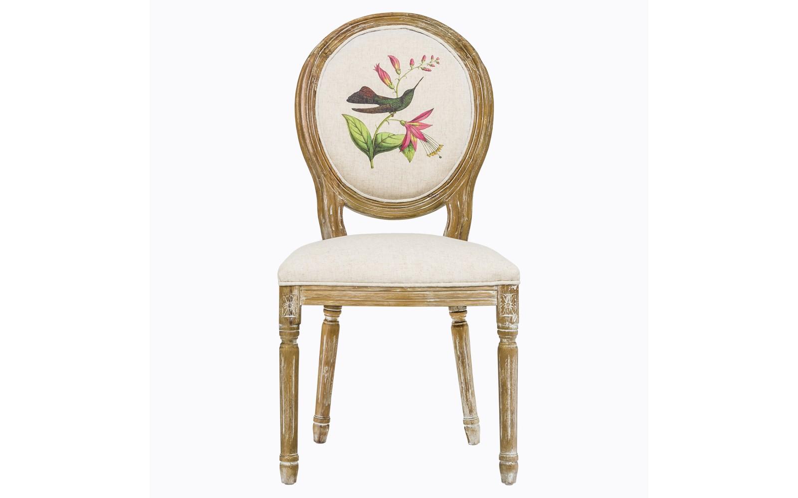 Стул «Птица счастья»Обеденные стулья<br>Мягкий стул &amp;quot;Птица счастья&amp;quot; - счастливая встреча разных столетий французской культуры: рисунок &amp;quot;прованса&amp;quot; уютно вписался в королевские формы эпохи Луи-Филиппа. Классический светло-бежевый цвет - залог гармонии с большинством предметов мебели и декора. Любое помещение, наряженное светлой мебелью, обретает имидж чистоты, простора и парадности.  <br>Корпус стула изготовлен из натурального бука. Среди европейских пород дерева бук считается самым прочным и долговечным материалом.  В дизайне стула&amp;quot;Птица счастья&amp;quot; резьба играет ведущую роль: стул украшен вычурными желобками и цветочными узорами, выточенными с ювелирной меткостью.  <br>Натуральные материалы и светлые тона вселяют атмосферу тепла, спокойствия и уюта. <br>Винтажный мотив, исполненный новейшими технологиями, обещают совместимость этой модели с большинством классических и современных жанров. Особый комплимент - почитателям французского &amp;quot;прованса&amp;quot; и салонного &amp;quot;ар-деко&amp;quot;. <br>Классический светло-бежевый цвет - залог соседства с большинством предметов мебели и декора. Любое помещение, наряженное светлой мебелью, обретает имидж чистоты, простора и парадности.  <br>Стул  с овальными спинками - закон симметричной гармонии окружающего пространства. Овальная форма идеально рифмуются в интерьере с зеркалами и картинами. <br>Светлые тона и обволакивающая мягкость вселяют восторг невесомости и истинного комфорта. <br>Обивка оснащена тефлоновым покрытием, защищающим от  пятен.<br>Вес 7 кг<br><br>Material: Текстиль<br>Width см: 50<br>Depth см: 57<br>Height см: 98