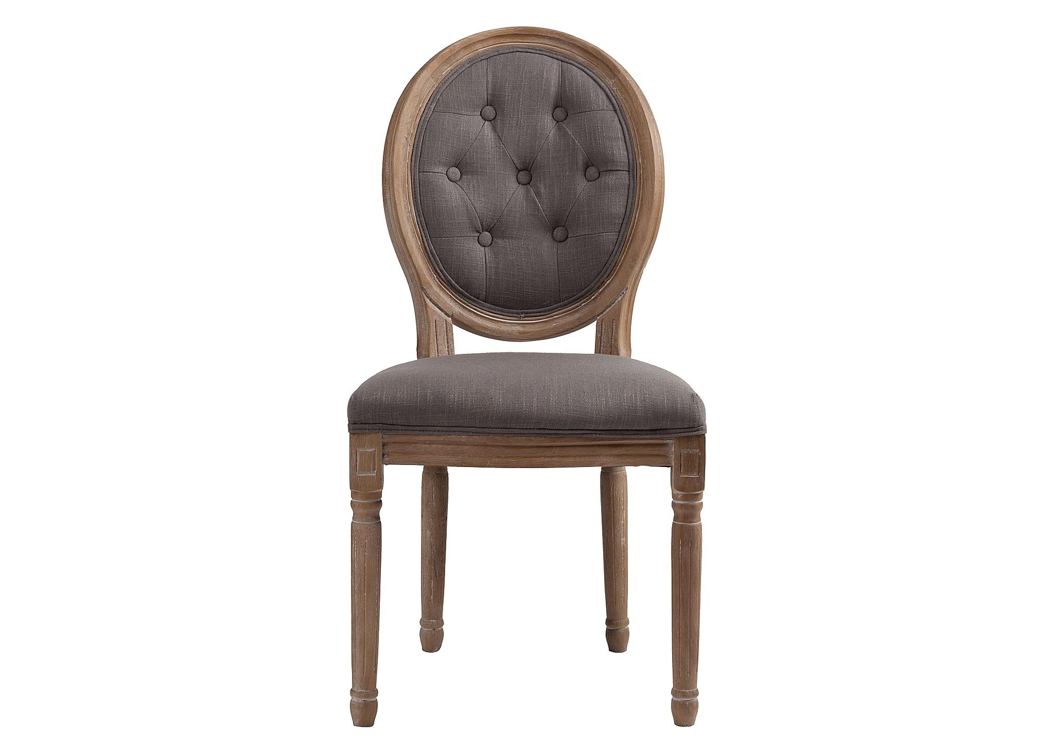 Стул MauriceОбеденные стулья<br>&amp;lt;div&amp;gt;Винтажный стул без подлокотников Maurice идеально подходит для интерьеров в роскошном французском стиле, а также для прованса и шебби-шика. Изящные резные ножки и детали каркаса выточены из древесного массива и искусственно состарены, выбелены, а обивка сиденья и спинки-медальона сшиты из льняной материи теплого серого оттенка с характерной крупной текстурой.&amp;lt;/div&amp;gt;<br><br>Material: Лен<br>Width см: 50<br>Depth см: 56<br>Height см: 96