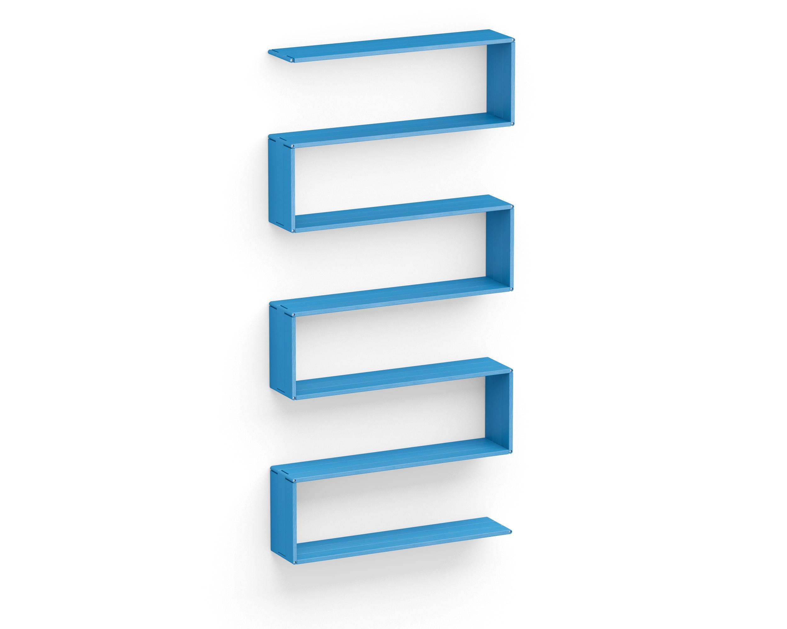 Полка-конструктор Flex Shelf 98Полки<br>цвет: натуральный ясень, красный, оранжевый, зеленый, голубой, сиреневый, белый, черный<br><br>Material: Ясень<br>Width см: 102<br>Depth см: 212<br>Height см: 22