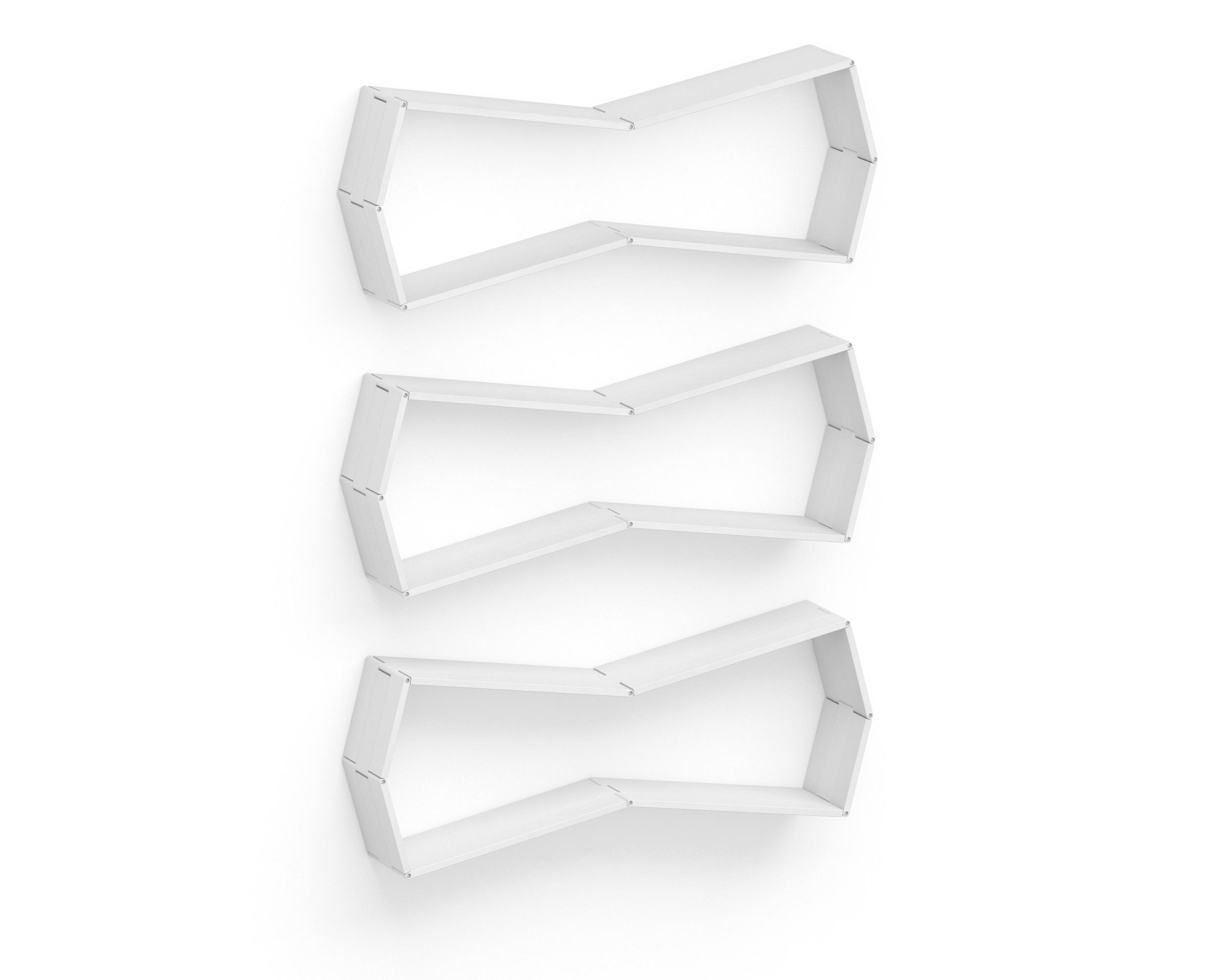 Полка-конструктор Flex Shelf 97Полки<br>цвет: натуральный ясень, красный, оранжевый, зеленый, голубой, сиреневый, белый, черный<br><br>Material: Ясень<br>Width см: 129<br>Depth см: 193<br>Height см: 22
