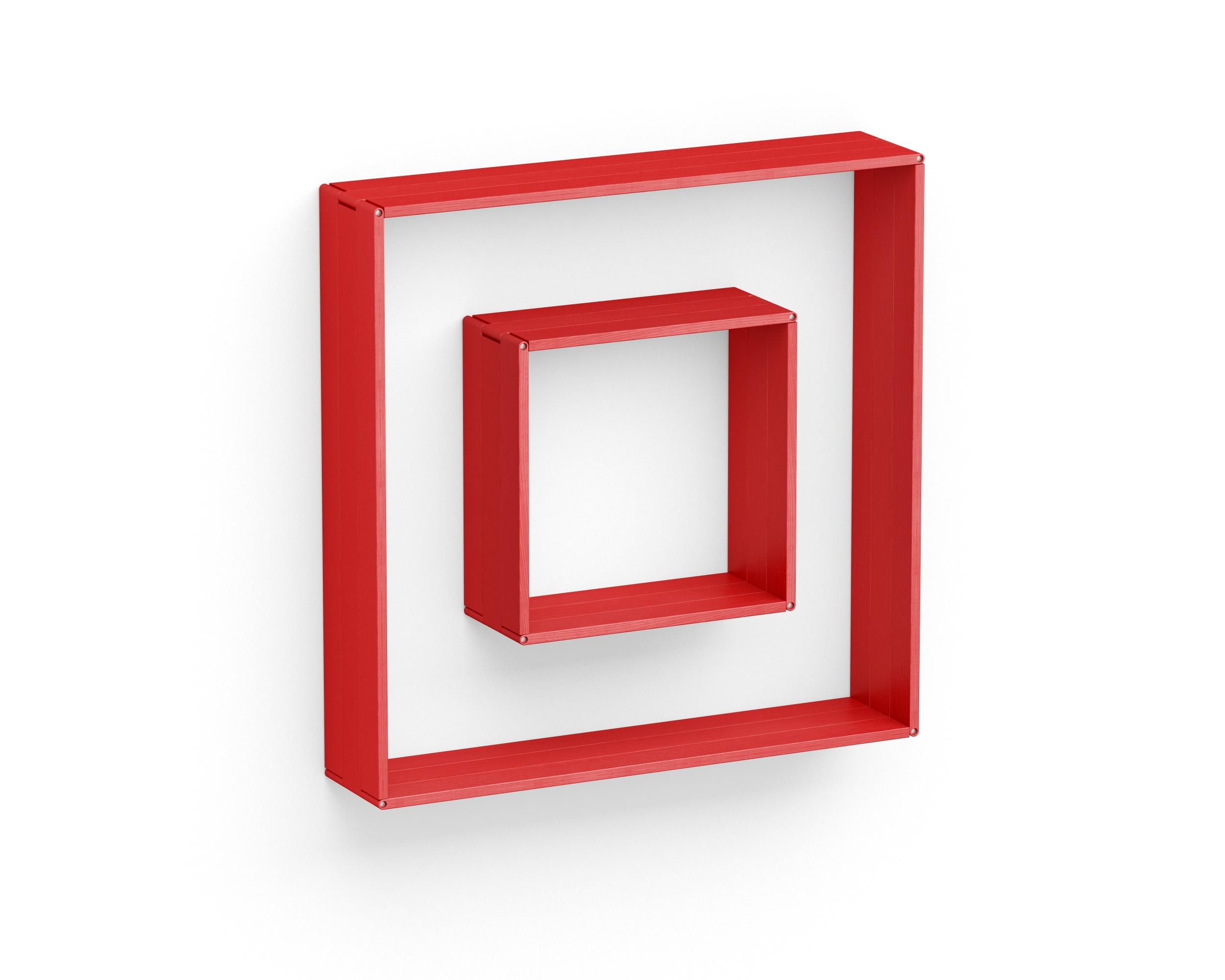 Полка-конструктор Flex Shelf 96Полки<br>цвет: натуральный ясень, красный, оранжевый, зеленый, голубой, сиреневый, белый, черный<br><br>Material: Ясень<br>Ширина см: 102.0<br>Высота см: 102.0<br>Глубина см: 22.0