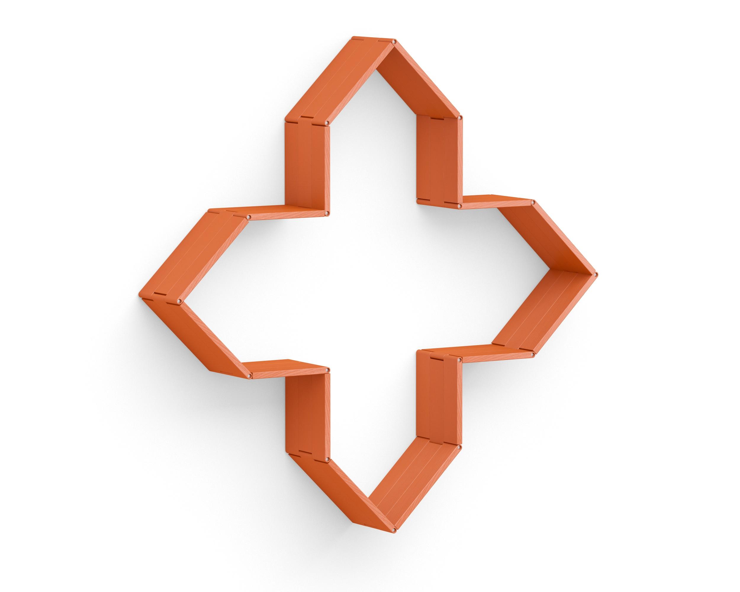 Полка-конструктор Flex Shelf 94Полки<br>цвет: натуральный ясень, красный, оранжевый, зеленый, голубой, сиреневый, белый, черный<br><br>Material: Ясень<br>Width см: 137<br>Depth см: 137<br>Height см: 22