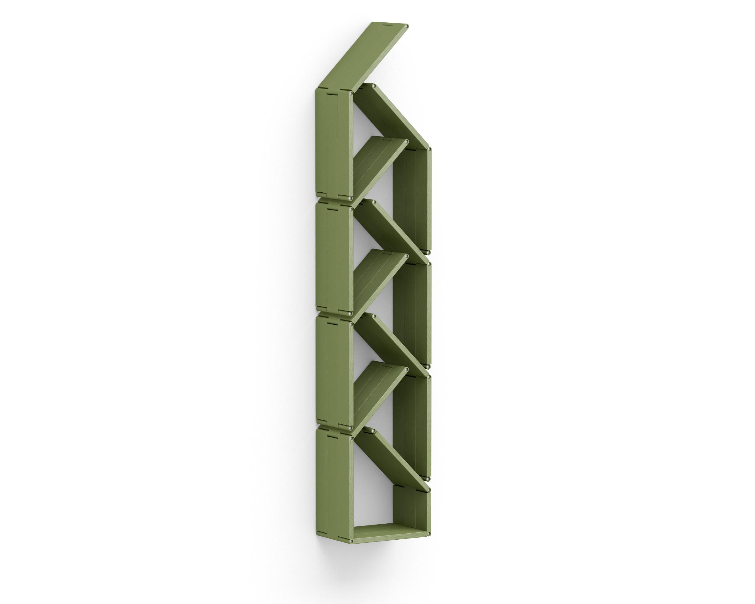 Полка-конструктор Flex Shelf 90Полки<br>цвет: натуральный ясень, красный, оранжевый, зеленый, голубой, сиреневый, белый, черный<br><br>Material: Ясень<br>Ширина см: 32<br>Высота см: 22<br>Глубина см: 176