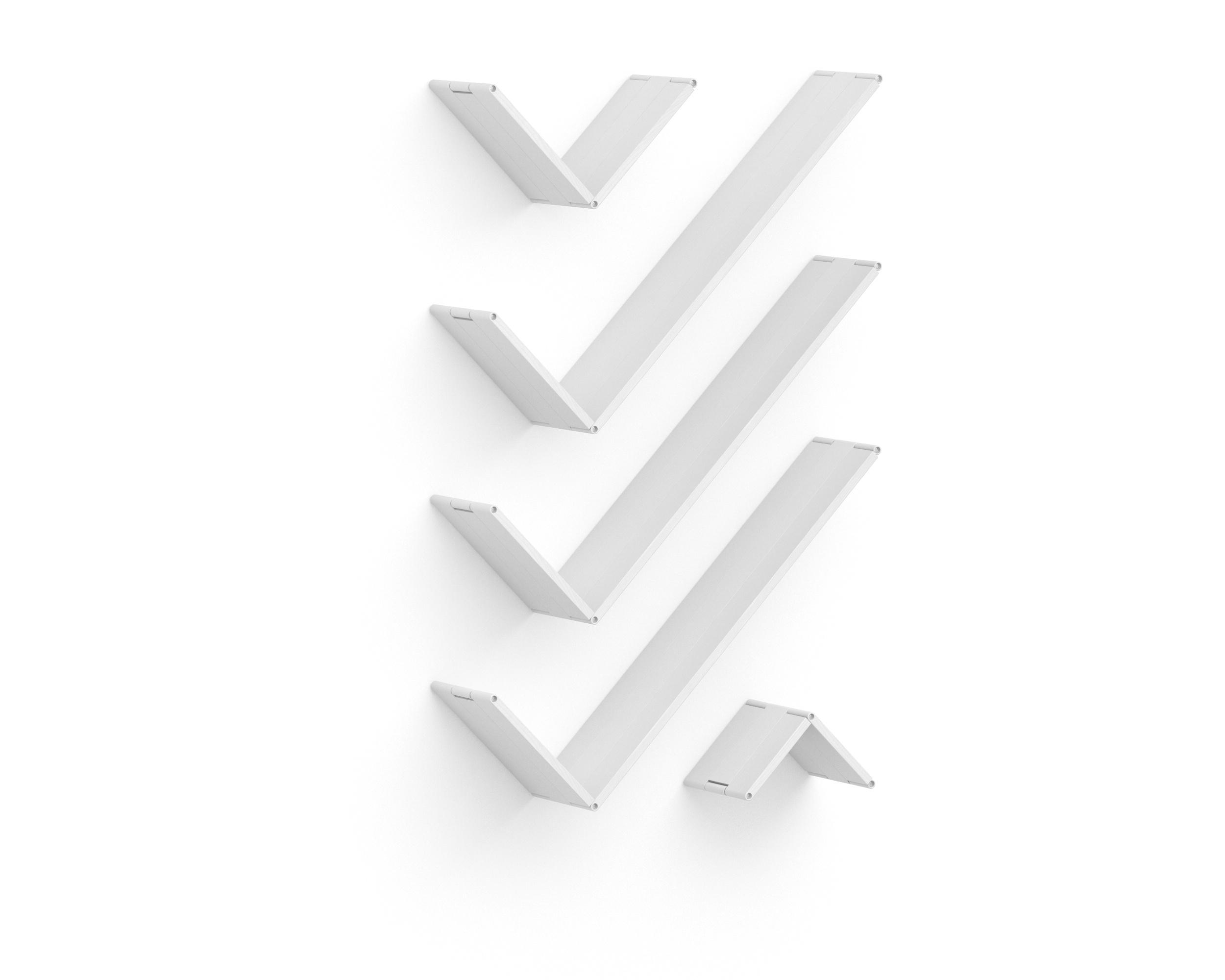 Полка-конструктор Flex Shelf 88Полки<br>цвет: натуральный ясень, красный, оранжевый, зеленый, голубой, сиреневый, белый, черный<br><br>Material: Ясень<br>Ширина см: 87<br>Высота см: 22<br>Глубина см: 150