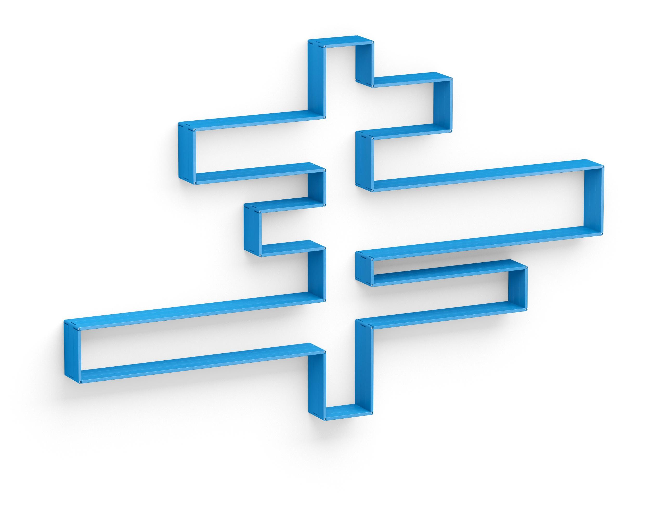Полка-конструктор Flex Shelf set 203Полки<br>цвет: натуральный ясень, красный, оранжевый, зеленый, голубой, сиреневый, белый, черный&amp;amp;nbsp;1 неделя<br><br>Material: Ясень<br>Width см: 332<br>Depth см: 217<br>Height см: 22
