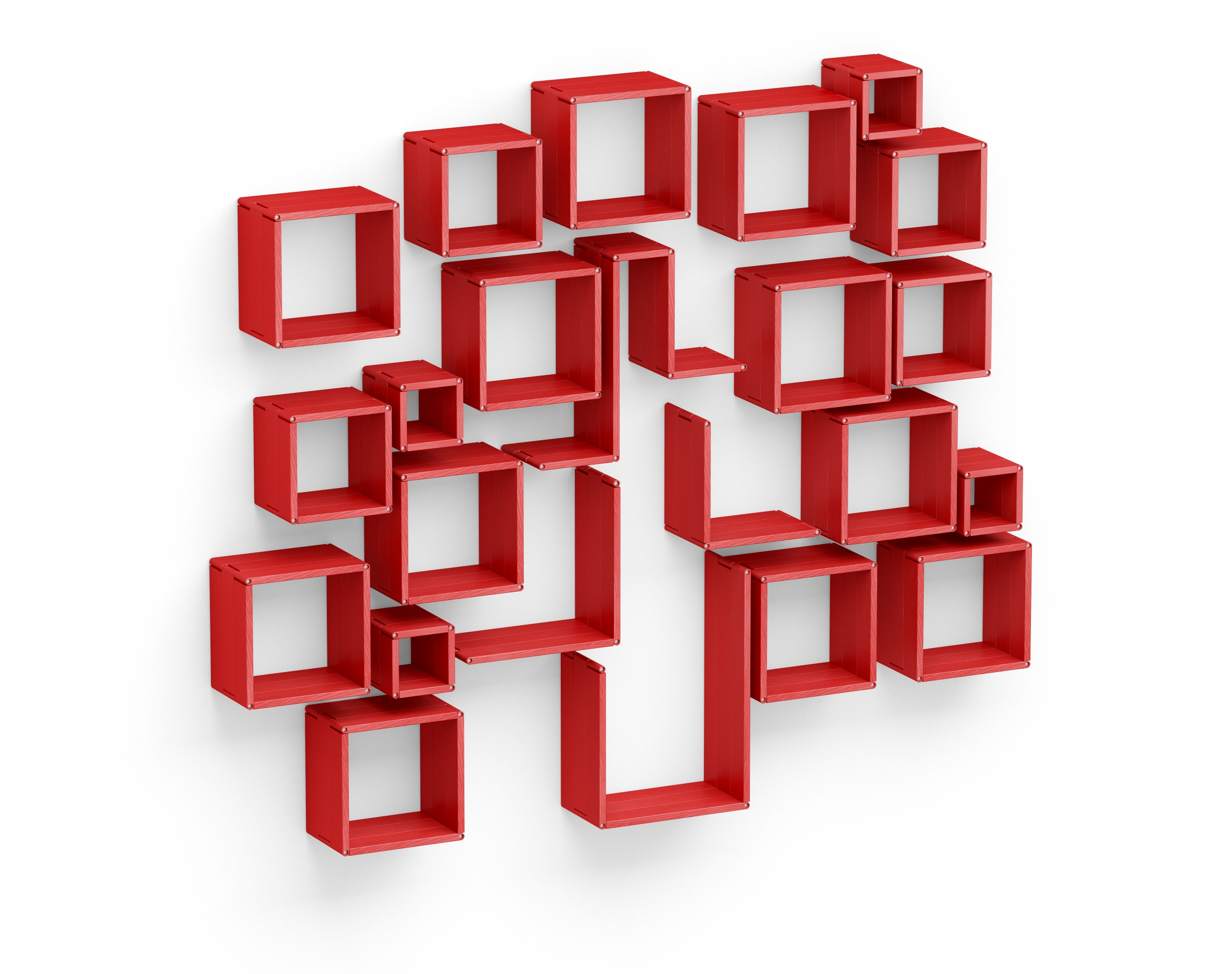 Полка-конструктор LATITUDE Flex Shelf set 123Полки<br>&amp;quot;Latitude Flex Shelf Set 123&amp;quot; ? одно из самых достойных творений современных российских дизайнеров, пробуждающее фантазию и помогающее творить! Представляет собой набор ярко-красных деревянных фрагментов, с помощью которых стены в доме можно превратить в настоящее произведение современного искусства. Объемные полки отлично подходят для украшения пространства, а также для создания дополнительных мест хранения. Именно этот набор хорошо будет смотреться с акцентом в виде эклектичной вазы, статуэтки или кубка, установленных посередине.<br><br>Material: Ясень<br>Width см: 203<br>Depth см: 22<br>Height см: 186