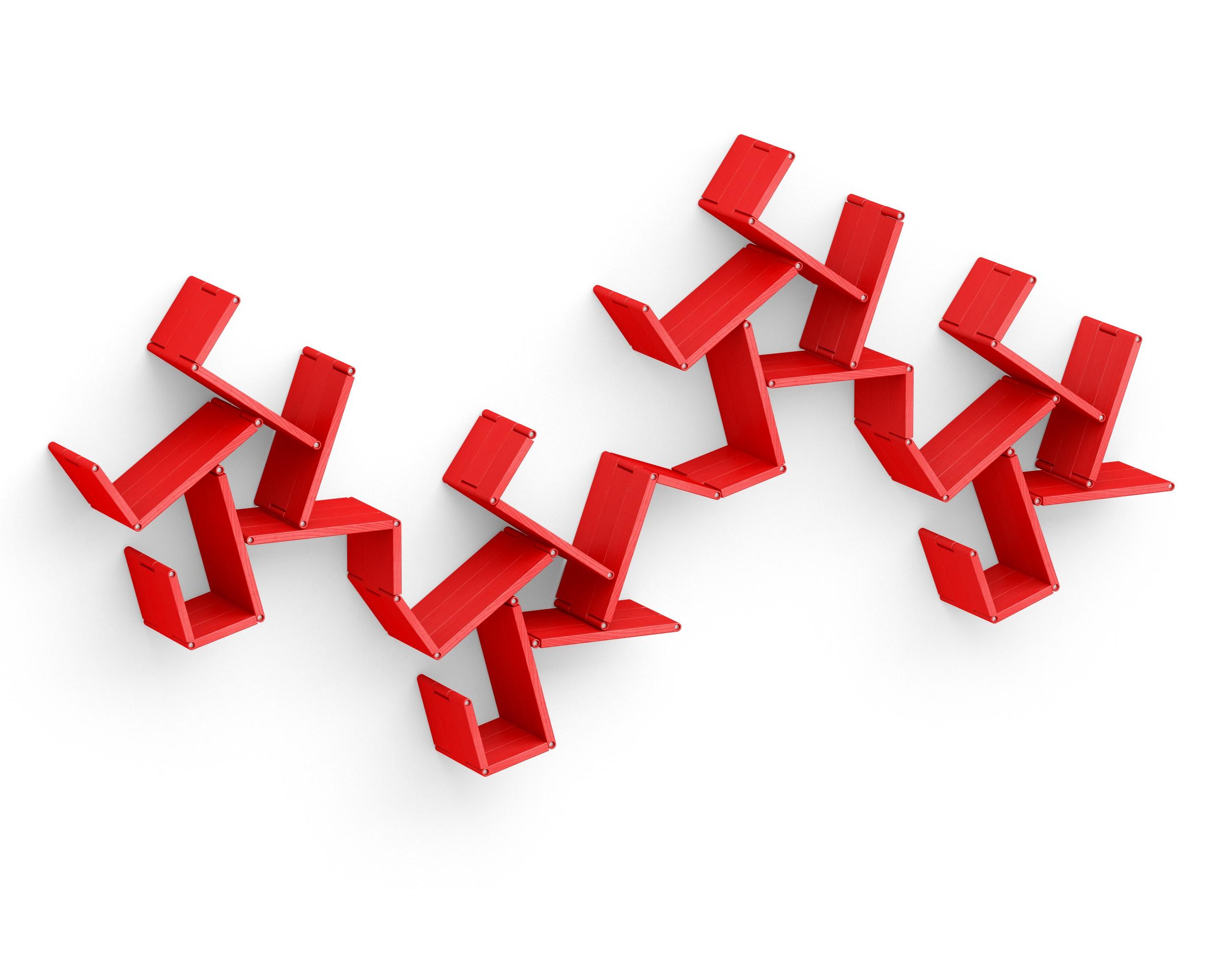 Полка-конструктор LATITUDE Flex Shelf set 173Полки<br>&amp;quot;Latitude Flex Shelf Set 173&amp;quot; ? разработка российских дизайнеров, представляющая собой идеальный предмет интерьера для тех, кто в погоне за яркостью не желает забывать о практичности. Представляет собой полку-трансформер, созданную различными элементами красного цвета. Удобные крепления позволяют сочетать их в самых смелых пропорциях ? не только так, как показано на фото. В любом образе они будут выглядеть эффектно и современно, а также добавлять пространству больше мест для хранения, не уменьшая полезной площади.<br><br>Material: Ясень<br>Ширина см: 229<br>Высота см: 117<br>Глубина см: 22