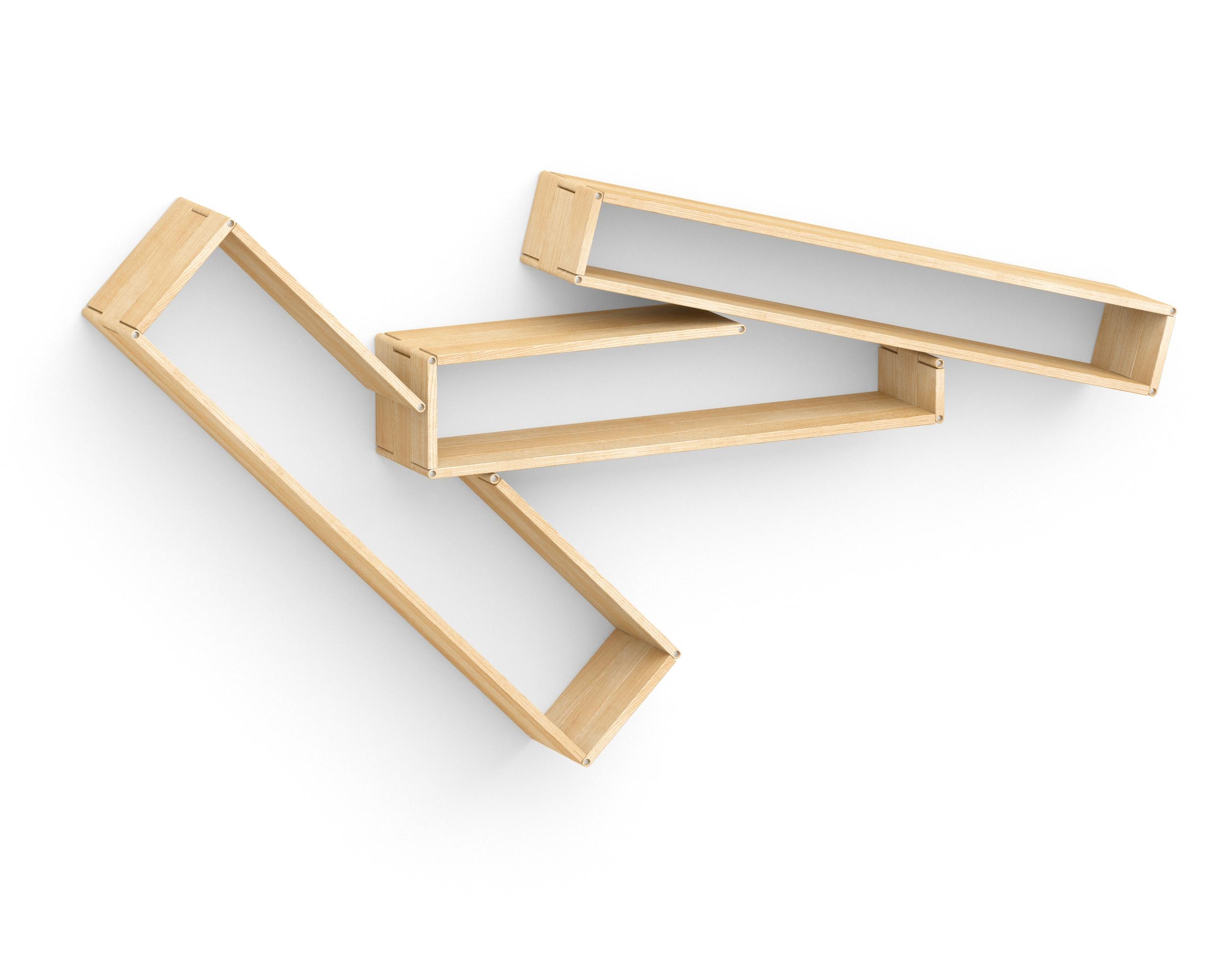 Полка-конструктор LATITUDE Flex Shelf set 172Полки<br>Творческий беспорядок теперь удастся создать не только на столе или на полу. С &amp;quot;Latitude Flex Shelf Set 172&amp;quot; его можно будет перенести в новую плоскость ? на стену! Не стоит переживать, что нагромождение хаотично расположенных полок добавит неаккуратность оформлению пространства. Декор, способный принимать самые разные очертания, привнесет в интерьер лишь нетривиальную смелость. С ним современные интерьеры буквально оживут и станут более интересными.<br><br>Material: Ясень<br>Ширина см: 210<br>Высота см: 96<br>Глубина см: 22