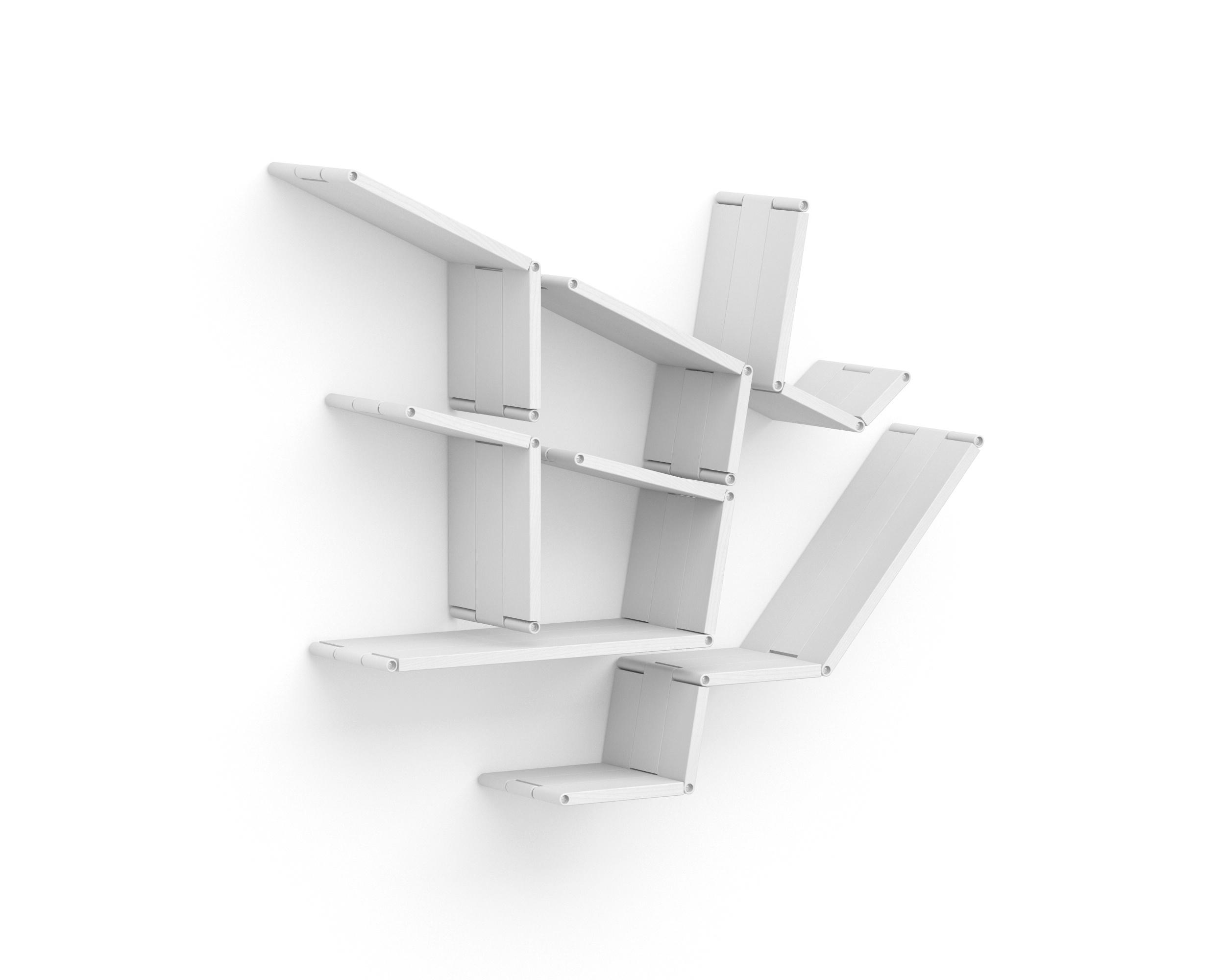 Полка-конструктор LATITUDE Flex Shelf set 168Полки<br>Творческие натуры и любители абстракции будут без ума от полки &amp;quot;Latitude Flex Shelf Set 168&amp;quot;. Этот &amp;quot;конструктор для взрослых&amp;quot; позволит им не только проявить фантазию, но у улучшить функционал каждого помещения. Собрав его по своему усмотрению, они смогут создать удобные места для хранения любых форм и пропорций. Белый цвет и лаконичный дизайн помогут новому предмету интерьера гармонично вписаться в современное оформление любой палитры.<br><br>Material: Ясень<br>Width см: 96<br>Depth см: 22<br>Height см: 89
