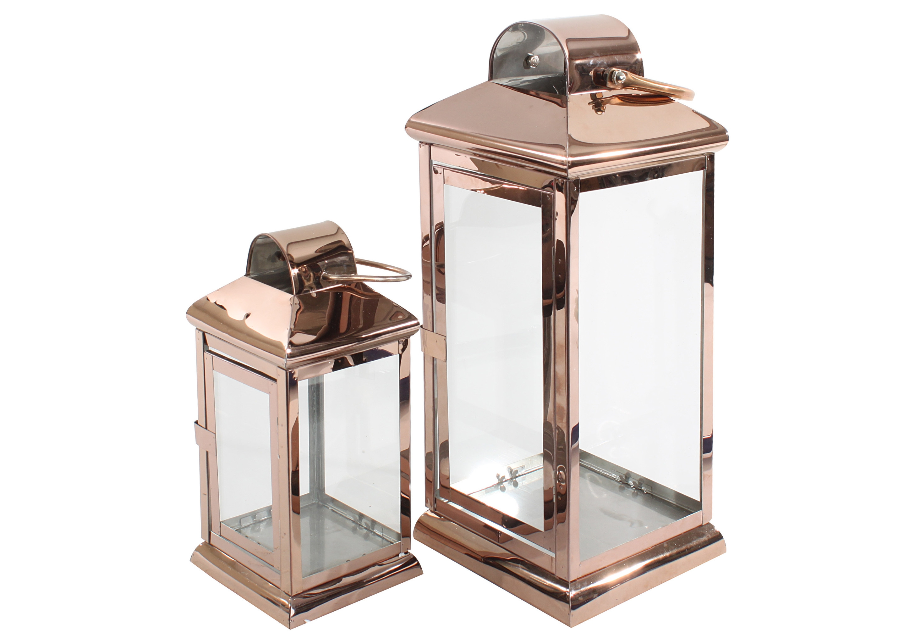 Набор из двух фонарейПодсвечники<br>&amp;lt;div&amp;gt;Два фонаря из металла бронзового цвета со стеклянными стенками выглядят и романтично, и современно. Пламя свечей, установленных внутрь, будет многократно отражаться в металлических поверхностях и создаст особый романтичный антураж.&amp;lt;br&amp;gt;&amp;lt;/div&amp;gt;&amp;lt;div&amp;gt;Размеры фонариков:&amp;lt;/div&amp;gt;&amp;lt;div&amp;gt;1.длина: 13 см ширина: 13 см высота: 28 см;&amp;lt;/div&amp;gt;&amp;lt;div&amp;gt;2.длина: 18 см ширина: 18 см высота: 42,5 см.&amp;lt;/div&amp;gt;<br><br>Material: Металл<br>Length см: 18<br>Width см: 18<br>Height см: 42,5