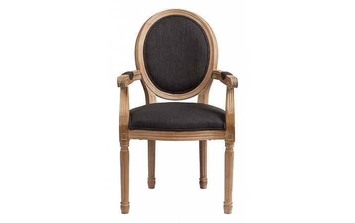 Кресло PollinaИнтерьерные кресла<br>Эффектный, изящный облик этого кресла достигнут смешением утонченных пропорций и лучших материалов отделки. Форма &amp;quot;медальон&amp;quot;, введенная в моду еще при Людовике XVI, идеально подходит для современных интерьеров в классическом стиле. Элегантность очертаний в исполнении из натурального бука обладает вневременным французским шармом, неспособным утратить свое очарование. Мягкая обивка из черного текстиля наделяет образ экстравагантностью, которая не позволяет &amp;quot;Pollina&amp;quot; оставаться незамеченным.<br><br>Material: Хлопок<br>Length см: 55<br>Width см: 60<br>Height см: 96