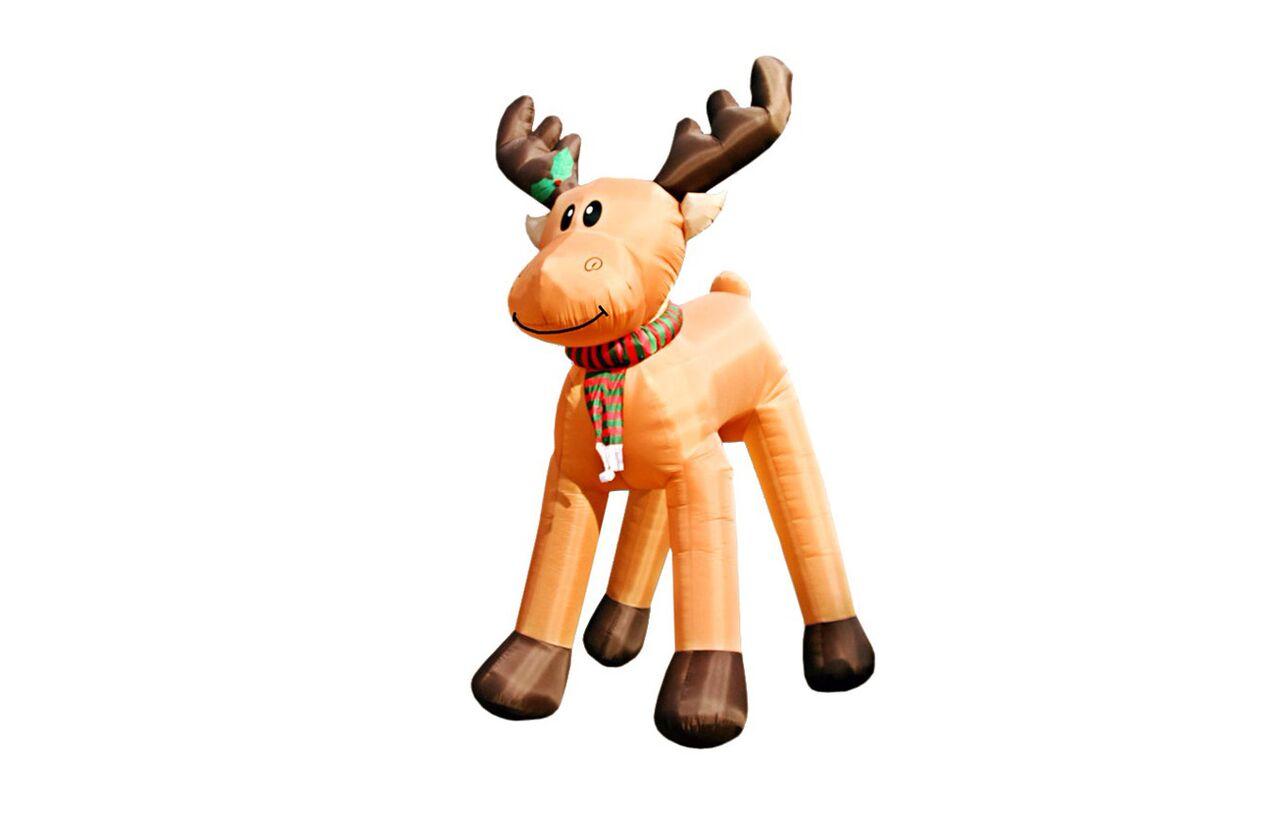 Надувная фигура Олень новогодний, огромныйДругое<br>&amp;lt;div&amp;gt;Этот сказочный олень совсем как из упряжки Санта Клауса, только намного эффектнее. Такая надувная фигура станет грандиозным украшением во дворе загородного дома. Трехметровый волшебный персонаж будет особенно колоритно смотреться в ночное время. Предмет оснащен внутренней подсветкой, которая дарит ему приятное мерцание. Модели не страшны морозы и снег, благодаря высокопрочным материалам.&amp;amp;nbsp;&amp;lt;br&amp;gt;&amp;lt;/div&amp;gt;&amp;lt;div&amp;gt;&amp;lt;br&amp;gt;&amp;lt;/div&amp;gt;&amp;lt;div&amp;gt;Тип компрессора: внешний&amp;lt;/div&amp;gt;&amp;lt;div&amp;gt;Электропитание: 220 В&amp;lt;/div&amp;gt;&amp;lt;div&amp;gt;Мощность, Вт: 145&amp;lt;/div&amp;gt;&amp;lt;div&amp;gt;Внутренняя подсветка: 5 ламп по 220 В / 7 Вт&amp;lt;/div&amp;gt;&amp;lt;div&amp;gt;Материал: полиэстр 190Т&amp;lt;/div&amp;gt;&amp;lt;div&amp;gt;Упаковка:&amp;lt;/div&amp;gt;&amp;lt;div&amp;gt;один короб - фигура&amp;lt;/div&amp;gt;&amp;lt;div&amp;gt;второй короб - компрессор&amp;lt;/div&amp;gt;&amp;lt;div&amp;gt;Объем комплекта, куб. м: 0,054&amp;lt;/div&amp;gt;&amp;lt;div&amp;gt;Вес комплекта, кг: 20&amp;lt;/div&amp;gt;&amp;lt;div&amp;gt;Для использования внутри и вне помещений (влагозащита IP44)&amp;lt;/div&amp;gt;&amp;lt;div&amp;gt;Фигура может устанавливаться на улице, сделана из высокопрочных и износоустойчивых материалов (влагозащита IP44).&amp;amp;nbsp;&amp;lt;/div&amp;gt;&amp;lt;div&amp;gt;Постоянная поддувка воздуха компрессором обеспечивает фигуре устойчивость даже при незначительных повреждениях.&amp;lt;/div&amp;gt;&amp;lt;div&amp;gt;&amp;lt;br&amp;gt;&amp;lt;/div&amp;gt;<br><br>Material: Текстиль<br>Length см: 300<br>Width см: 200<br>Height см: 560
