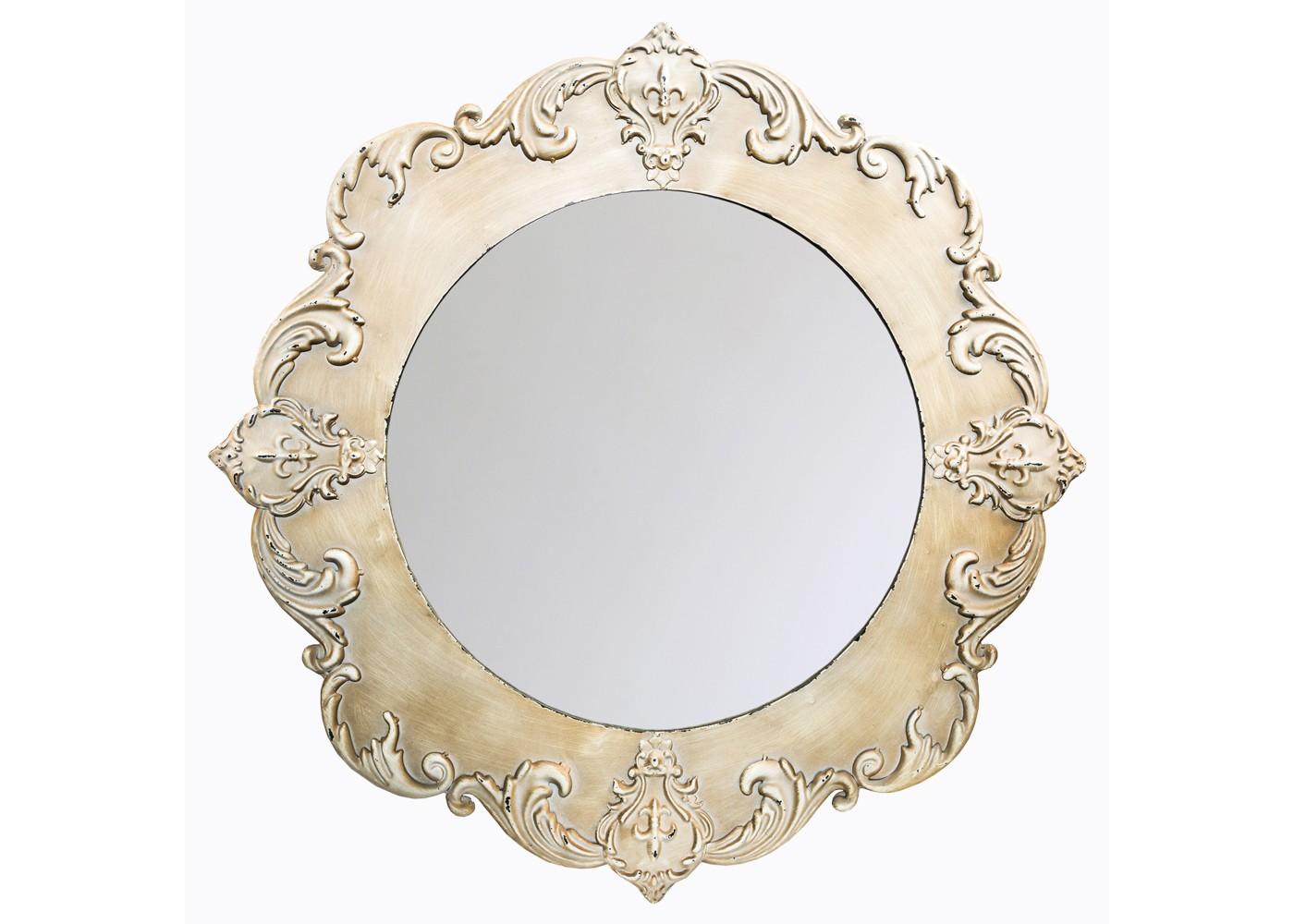 Настенное зеркало «Бурбон»Настенные зеркала<br>Великолепие зеркала &amp;quot;Бурбон&amp;quot; воплощено современным видением классических канонов красоты. В пышности королевских линий растительного рельефа, в сдержанной античной палитре и антикварной отделке прослеживается настоящая гармония. Гармония классического стиля. В богатстве ампира, интимной роскоши рококо или строгости английского оформления ? всюду она будет смотреться прекрасно, добавляя атмосфере пространства больше шика.&amp;lt;div&amp;gt;&amp;lt;br&amp;gt;&amp;lt;/div&amp;gt;&amp;lt;div&amp;gt;Можно использовать чистящие средства для рамы.&amp;lt;/div&amp;gt;&amp;lt;div&amp;gt;&amp;lt;br&amp;gt;&amp;lt;/div&amp;gt;<br><br>Material: Металл<br>Depth см: 2,5<br>Diameter см: 78