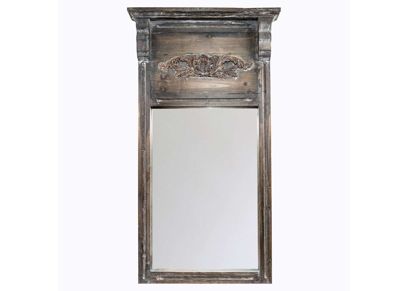 Настенное зеркало «Вандом»Настенные зеркала<br>Оформление зеркала &amp;quot;Вандом&amp;quot; угождает и романтическим, и сдержанным вкусам одновременно. Этот старинный &amp;quot;портал&amp;quot;, очаровывающий скромностью витиеватого резного узора и грацией волнообразных наличников, приглашает с головой окунуться в великолепие винтажа. В благородной фактуре натуральной ели, неровностях цветовой палитры и аккуратных, но атмосферных акцентах, скрыто подлинное очарование этого стиля. Декор &amp;quot;Вандом&amp;quot;, такой загадочный и строгий, позволит вам познать его в полной мере.&amp;lt;div&amp;gt;&amp;lt;br&amp;gt;&amp;lt;/div&amp;gt;&amp;lt;div&amp;gt;Можно использовать чистящие средства для рамы.&amp;lt;/div&amp;gt;&amp;lt;div&amp;gt;Размер: 64?114?11 см.&amp;lt;/div&amp;gt;<br><br>Material: Дерево<br>Width см: 64<br>Depth см: 11<br>Height см: 114