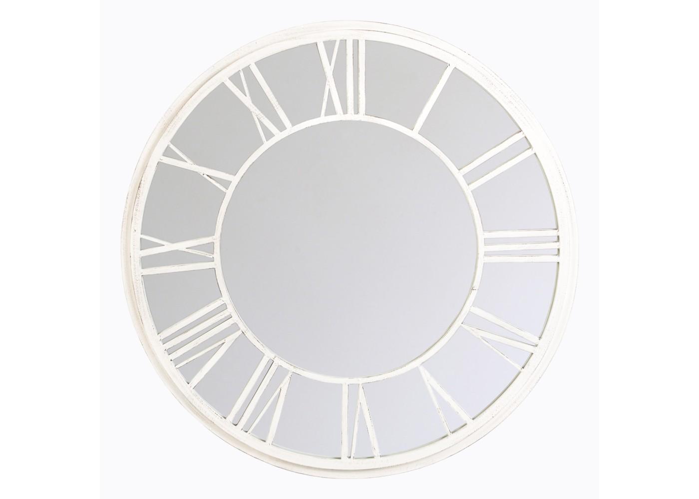 Настенное зеркало «Орсе» (белый антик)Настенные зеркала<br>&amp;quot;Орсе&amp;quot; ? романтическое дежа-вю сентиментального путешественника, неравнодушного к чудесам света. Это зеркало, прототипом которого выступили часы знаменитого парижского музея, хранит в себе очарование их уникальной архитектуры. Вглядываясь в его бесконечно элегантные округлые пропорции, украшенные традиционным белоснежным циферблатом, вы сможете отправиться в очередной вояж. На этот раз он будет проходить по просторам вашей фантазии. Винтажный аксессуар, исполненный новейшими технологиями, позволит проникнуть в самые глубокие ее недра.&amp;lt;div&amp;gt;&amp;lt;br&amp;gt;&amp;lt;/div&amp;gt;&amp;lt;div&amp;gt;Размер: ? 92 см, ширина 2 см.&amp;lt;/div&amp;gt;<br><br>Material: Металл<br>Depth см: 2<br>Diameter см: 92