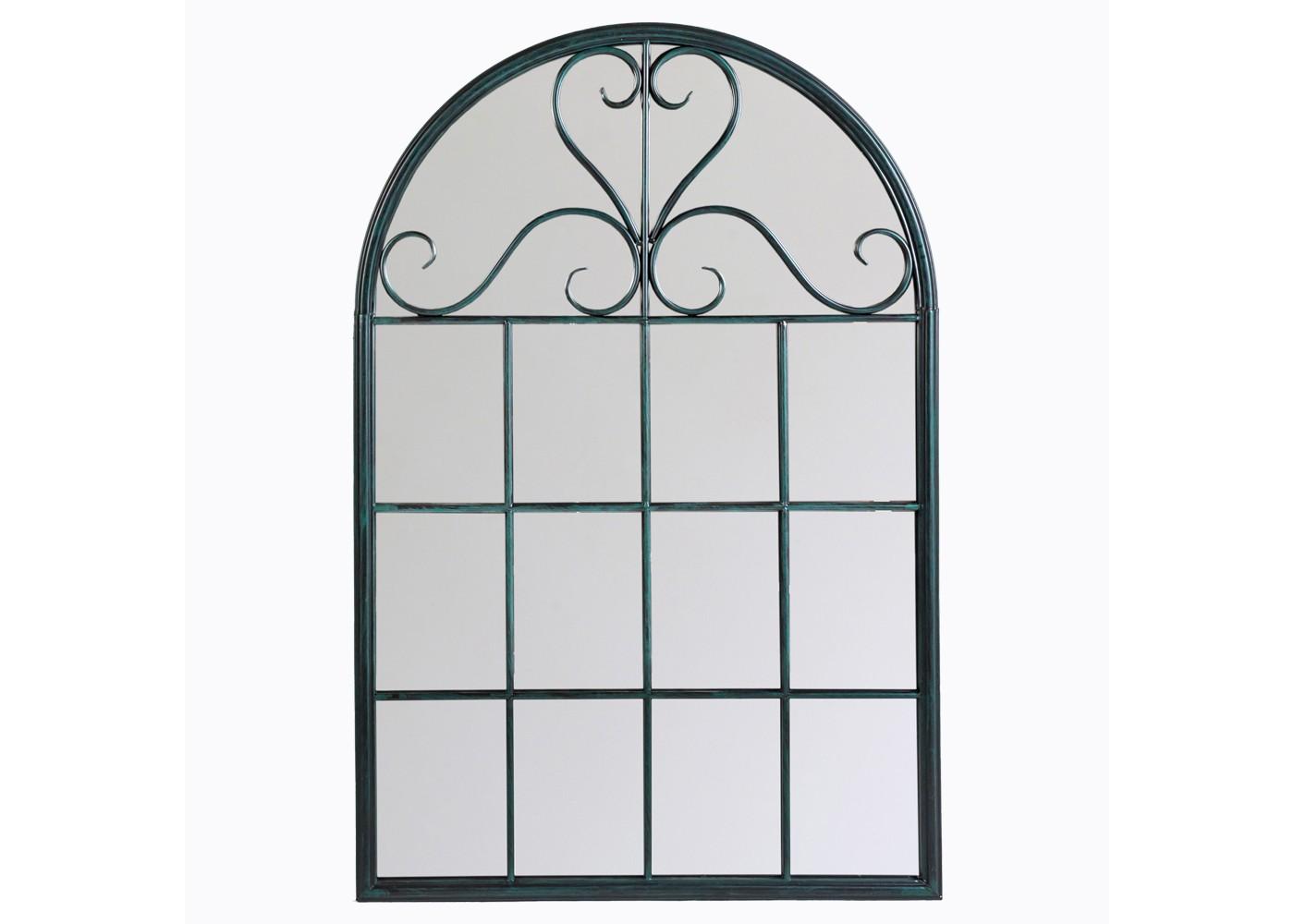 Настенное зеркало «Венсен» (черный антик)Настенные зеркала<br>Зеркало арочной формы ? отличный способ добавить ноту античного великолепия оформлению. Декор, вдохновленный пропорциями старинной архитектуры, отличается изяществом и романтизмом. Вековые традиции, воплощенные в утонченном силуэте, обещают зеркалу превосходную совместимость с французским, прованским, классическим и даже современным стилями.&amp;lt;div&amp;gt;&amp;lt;br&amp;gt;&amp;lt;/div&amp;gt;&amp;lt;div&amp;gt;Размер: 75?113?2,5 см.&amp;lt;/div&amp;gt;<br><br>Material: Металл