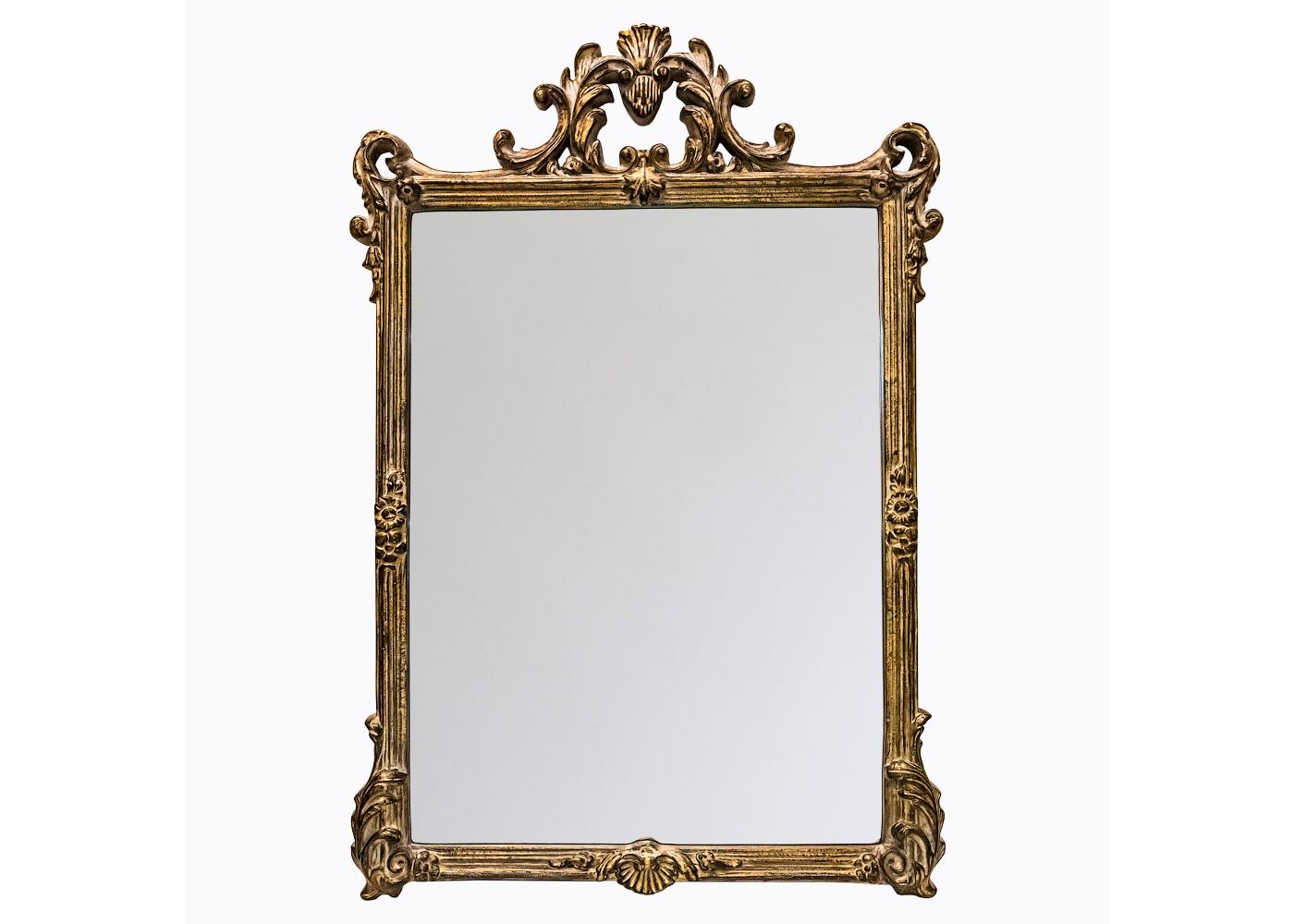 Настенное зеркало «Сен-Жермен»Настенные зеркала<br>&amp;quot;Сен-Жермен&amp;quot; ? зеркало, способное удвоить богатство и роскошь оформления окружающего пространства. Его силуэт величественностью своих пропорций напоминает древний фамильный герб. В безупречности утонченных линий, акцентированных торжественным широким фацетом, читается горделивость за аристократичное происхождение декора. Аканты и рокайли, украшающие прямоугольную раму, служат напоминанием о безвременной элегантности французского стиля. В отделке золотистой патиной это ощущение лишь усиливается.&amp;lt;div&amp;gt;&amp;lt;br&amp;gt;&amp;lt;/div&amp;gt;&amp;lt;div&amp;gt;Размер рамы: 85,5?112,2?5,7 см.&amp;lt;/div&amp;gt;&amp;lt;div&amp;gt;Вес: 6,5 кг.&amp;lt;/div&amp;gt;<br><br>Material: Полиуретан<br>Width см: 85,5<br>Depth см: 5,7<br>Height см: 112,2