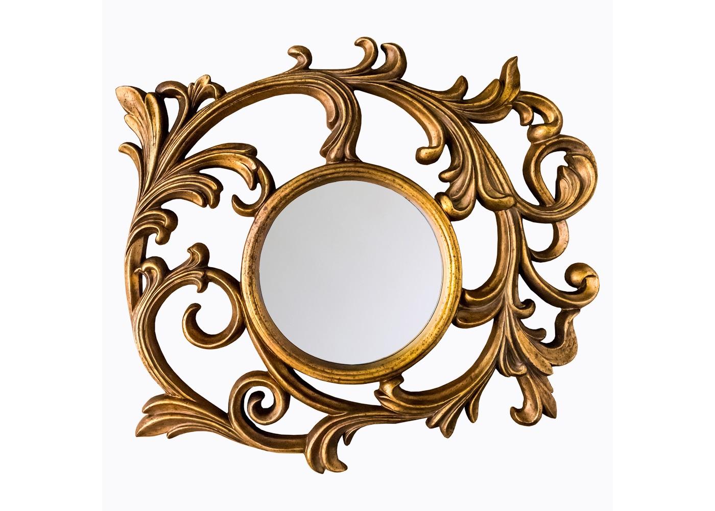 Настенное зеркало «Вертиго»Настенные зеркала<br>&amp;quot;Вертиго&amp;quot; ? превосходный акцент для роскошного барокко, изнеженного ар-нуво, парадного ренессанса и сенсационного эко-стиля. Классическая форма круга, несущая в себе гармонию, делает зеркало идеально подходящим для пространств любой архитектуры. Оригинальная рама, составленная витиеватыми растительными орнаментами, в водовороте изысканных элементов рождает особенно эффектное и чувственное оформление.&amp;lt;div&amp;gt;&amp;lt;br&amp;gt;&amp;lt;/div&amp;gt;&amp;lt;div&amp;gt;Размер рамы: 116?114?5 см.&amp;lt;/div&amp;gt;&amp;lt;div&amp;gt;Вес: 7,5 кг.&amp;lt;/div&amp;gt;<br><br>Material: Полиуретан
