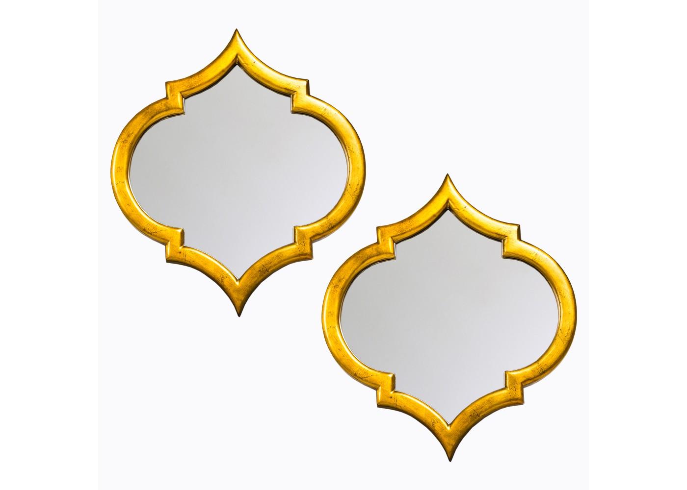 Комплект из двух настенных зеркал «Доминик»Настенные зеркала<br>&amp;quot;Доминик&amp;quot; ? набор зеркал, чье оформление искусно маневрирует на стыке практичности, лаконичности и роскоши. Функциональность декора проявляется в его способности увеличивать распространение света и выступать гармоничным украшение пространства. В дуэте золотистой палитры и симметричных плавных изгибов рождается имидж классической французской грации. Грации, которая в сиянии шарма ар деко, прованса или рококо будет смотреться невероятно гармонично.&amp;lt;div&amp;gt;&amp;lt;br&amp;gt;&amp;lt;/div&amp;gt;&amp;lt;div&amp;gt;Размер каждого зеркала: 52?58?3,85 см.&amp;lt;/div&amp;gt;&amp;lt;div&amp;gt;Вес (1 штука): 2,1 кг.&amp;lt;/div&amp;gt;<br><br>Material: Полиуретан