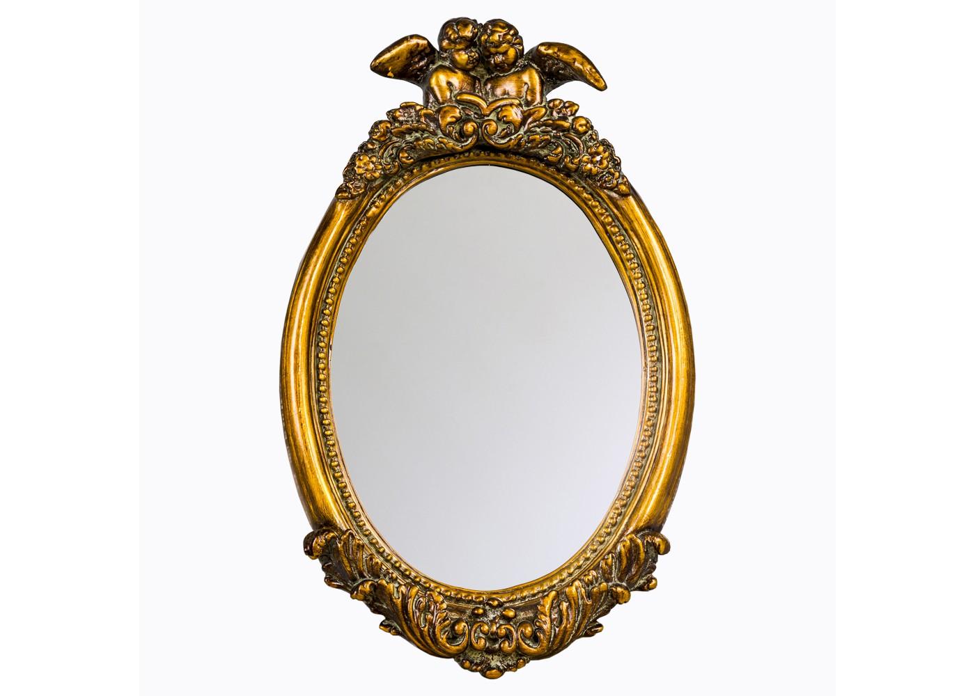 Настенное зеркало «Рафаэль»Настенные зеркала<br>Зеркало &amp;quot;Рафаэль&amp;quot; просто создано для интерьеров, тяготеющих к гармонии и избегающих контрастности. Идеальное сочетание романтичной отделки, благородной палитры и плавности форм рождает французский образ, полный интимной роскоши. Сплетения растительного орнамента служат лучшим украшением овальной рамы, на свету играющей блеском состаренной позолоты. В дополнении утонченной красотой двух миниатюрных ангелов, все это обретает по-настоящему райское великолепие.&amp;lt;div&amp;gt;&amp;lt;br&amp;gt;&amp;lt;/div&amp;gt;&amp;lt;div&amp;gt;Размер изделия: 37?59?6,3 см.&amp;lt;/div&amp;gt;&amp;lt;div&amp;gt;Вес: 1,7 кг.&amp;lt;/div&amp;gt;<br><br>Material: Пластик<br>Width см: 37<br>Depth см: 6,3<br>Height см: 59