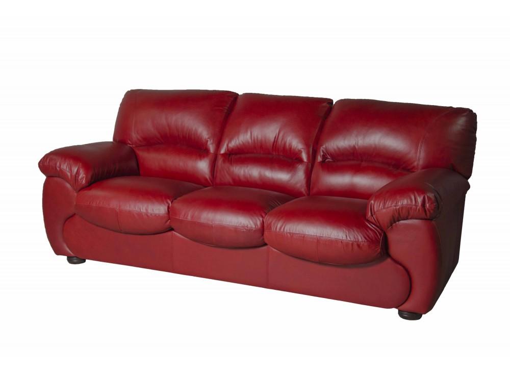 Прямой диван-кровать OscarКожаные диваны<br>Это изделие отлично смотрится в абсолютно любых условиях благодаря продуманному и очень красивому сочетанию подобранных элементов. Подушки для седения выполнены из высокоэластичного поролона, диванные подушки наполнены силиконовой массой.  Данный трехместный диван  в комплекте с кроватью.<br><br>Material: Кожа<br>Length см: 227<br>Width см: 94<br>Height см: 92