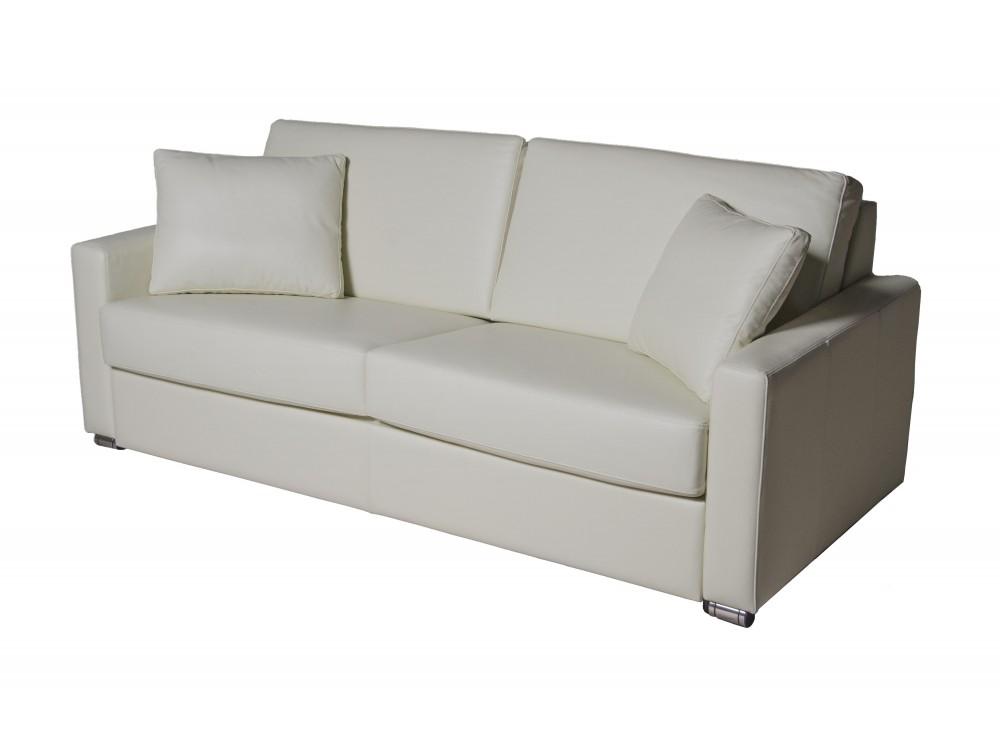 Прямой диван-кровать BoleroКожаные диваны<br>Диван который по своей функциональности, удобности и дизайну удовлетворит вкусы любого клиента. Выбор желаемых композиционных элементов позволяет покупателю разместить мебель в соответствии со своим рабочим местом или жилым помещением. Мы предлагаем высокоэластичный поролон, который по своему качеству не уступает перьевому наполнению. Современный облик гарнитура выполнен из нержавеющих элементов. Трехместные диваны превращается в удобную кровать.<br><br>Material: Кожа<br>Length см: 172<br>Width см: 98<br>Height см: 98