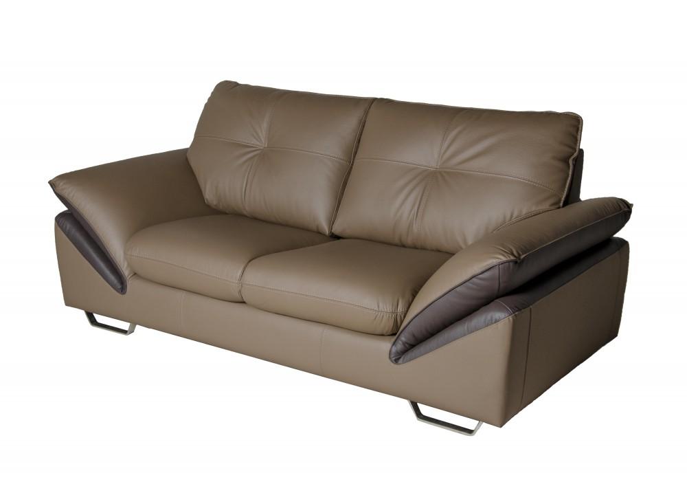 Прямой диван PrestigeКожаные диваны<br>Двухместный диван Prestige – соединение вневременного дизайна и удобства. Подлокотники, сиденья также как и спинка модели немного наклонены назад с целью увеличения комфорта. Это идеальный способ почувствовать комфорт даже в скромном помещении своего дома. Данный двухместный диван своими размерами привлекает взгляд каждого покупателя и увеличивает искушение попробовать его удобность. Обивка из натуральной кожи.<br><br>Material: Кожа<br>Length см: 197<br>Width см: 102<br>Height см: 91