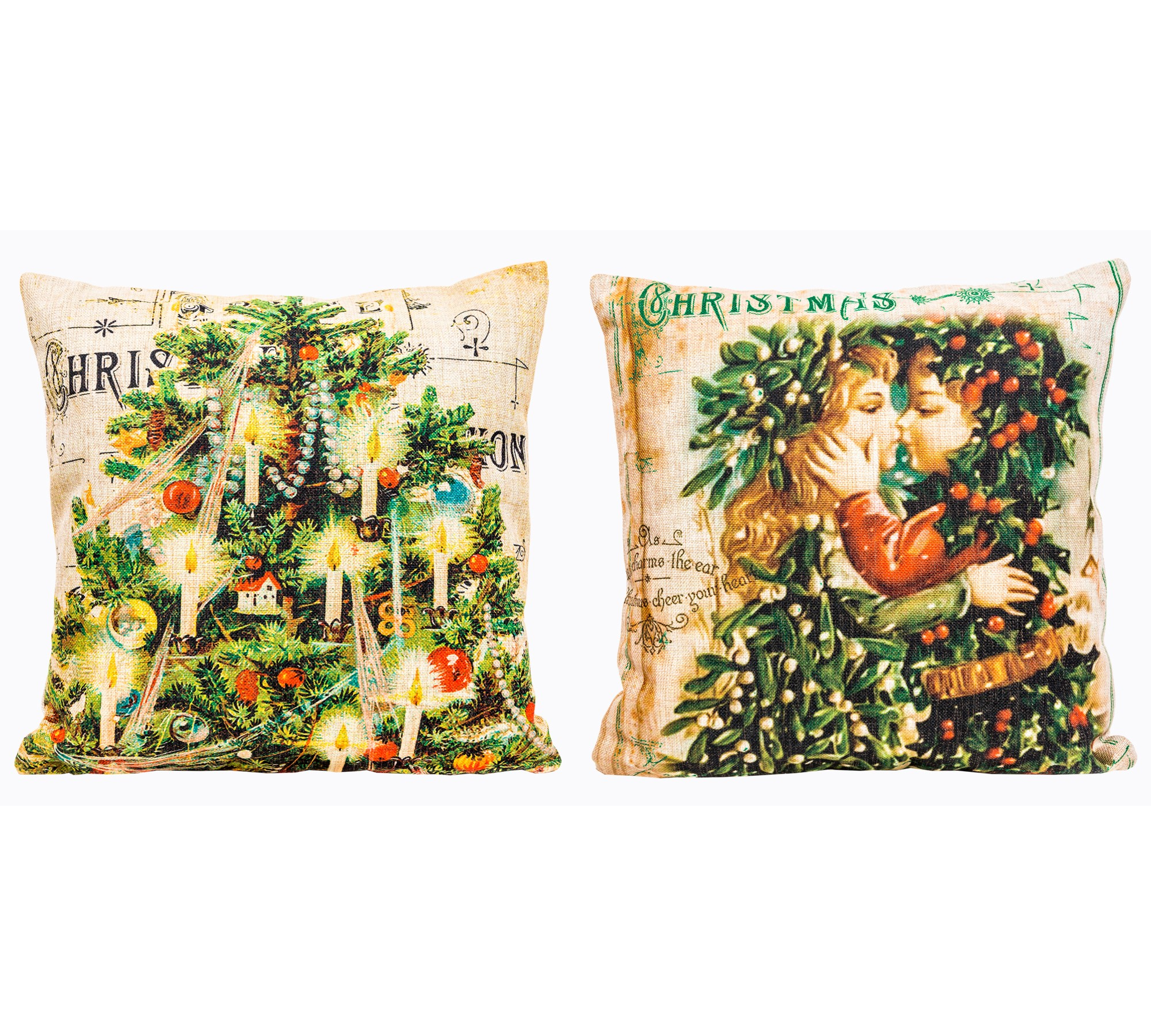 """Object Desire Набор из двух декоративных подушек """"С Новым Годом!"""", версия 1"""