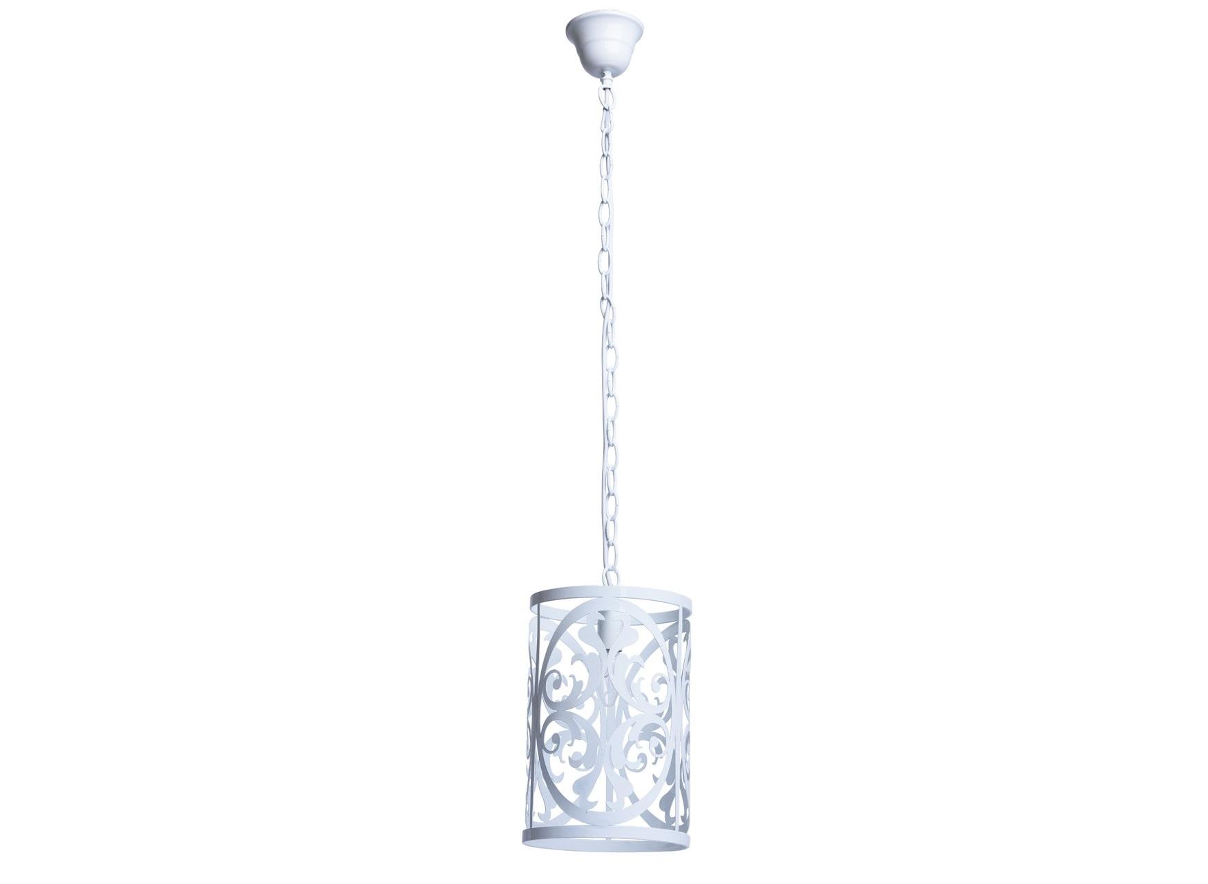 Подвесной светильникПодвесные светильники<br>&amp;lt;div&amp;gt;Нежный, воздушный светильник из коллекции «Замок» привнесет в обстановку непринужденность и изящность. &amp;amp;nbsp;Он выполнен в стиле легкой ковки и идеально подойдет для любителей оригинальных решений в интерьере. &amp;amp;nbsp;Металлическое основание окрашено в глянцевый белый цвет, освежающий комнату. Трендовый дизайн светильника подчеркнут &amp;amp;nbsp;изящным резным узором, плавные линии и изгибы которого настраивают на спокойствие и создают уют. Рекомендуемая площадь освещения – 15 кв.м.&amp;lt;/div&amp;gt;&amp;lt;div&amp;gt;Арматура светильника выполнена из сплава металла &amp;amp;nbsp;и окрашена в белый глянцевый цвет. Орнамент вырублен по технологии лазерной резки.&amp;lt;/div&amp;gt;&amp;lt;div&amp;gt;Длина подвеса 60 см., высота 110 см.&amp;lt;/div&amp;gt;&amp;lt;div&amp;gt;1*60W E14 220V&amp;lt;br&amp;gt;&amp;lt;/div&amp;gt;<br><br>Material: Металл<br>Height см: 110<br>Diameter см: 20