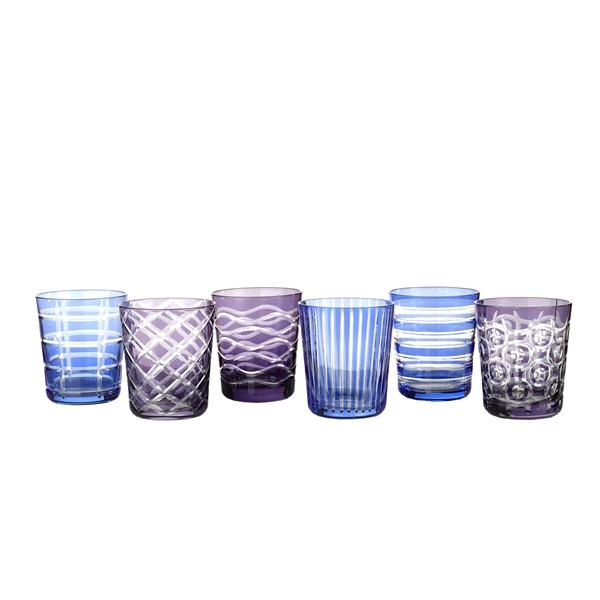Набор бокалов CobaltБокалы<br>цветное стекло, цвет мультиколор<br><br>Material: Стекло<br>Height см: 10<br>Diameter см: 9
