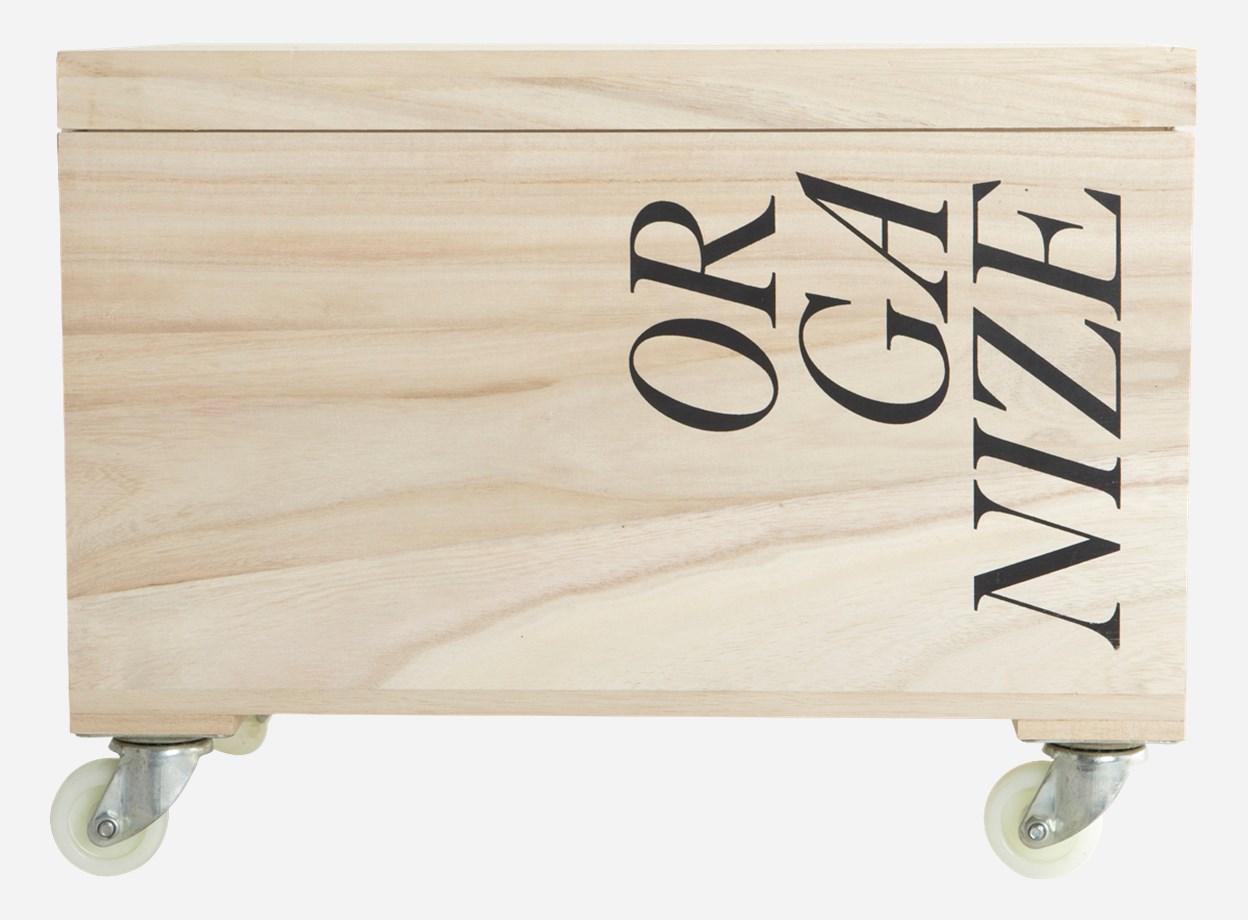 """Ящик для хранения на колёсах """"Organize"""" от The Furnish"""
