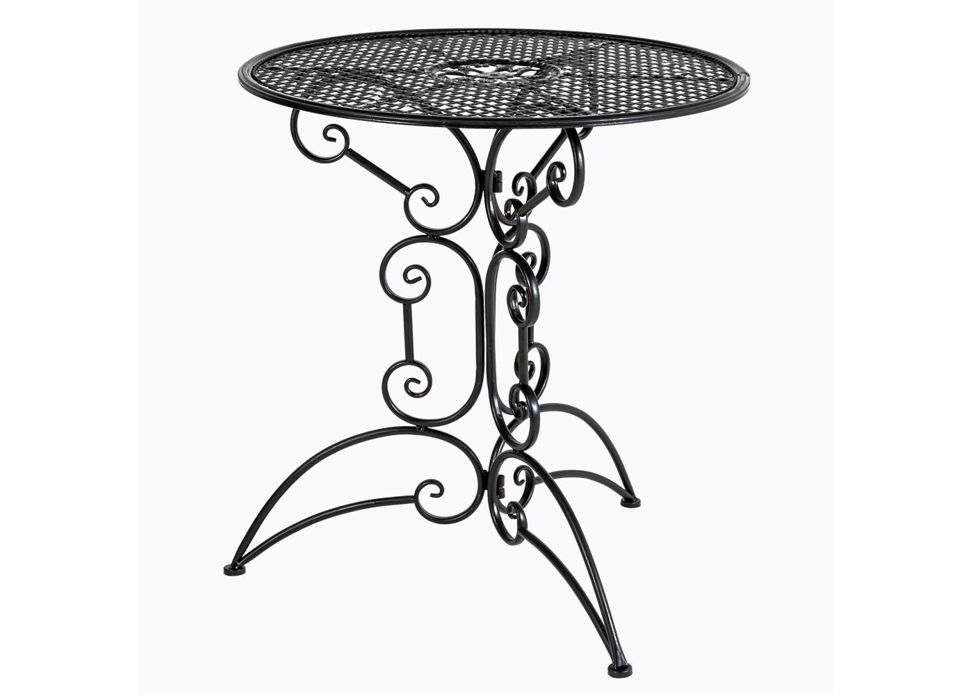 Складной столик для завтрака «Берси»Кофейные столики<br>Изящный столик &amp;quot;Берси&amp;quot; внесёт в Ваш дом атмосферу загородной беззаботности, а садовому участку придаст имидж респектабельного европейского кафе. Стол &amp;quot;Берси&amp;quot; универсален для городских квартир и загородных домов, для помещений и открытого воздуха. Плотный плетеный узор образует гладкую плоскую поверхность, гарантирующую устойчивость для предметов. Конструкция максимально комфортабельна: столик складывается единым легким движением, в сложенном виде он компактен для хранения и легок для перемещений. Кованая мебель изготовлена из мягкой стали, игнорирующей ржавчину, влажность и температурные перепады. На открытом воздухе ей не страшны любые погодные условия.&amp;lt;div&amp;gt;&amp;lt;br&amp;gt;&amp;lt;div&amp;gt;&amp;lt;iframe width=&amp;quot;530&amp;quot; height=&amp;quot;360&amp;quot; src=&amp;quot;https://www.youtube.com/embed/R8wfCIdJsYg&amp;quot; frameborder=&amp;quot;0&amp;quot; allowfullscreen=&amp;quot;&amp;quot;&amp;gt;&amp;lt;/iframe&amp;gt;&amp;lt;/div&amp;gt;&amp;lt;/div&amp;gt;<br><br>Material: Металл<br>Height см: 74<br>Diameter см: 70