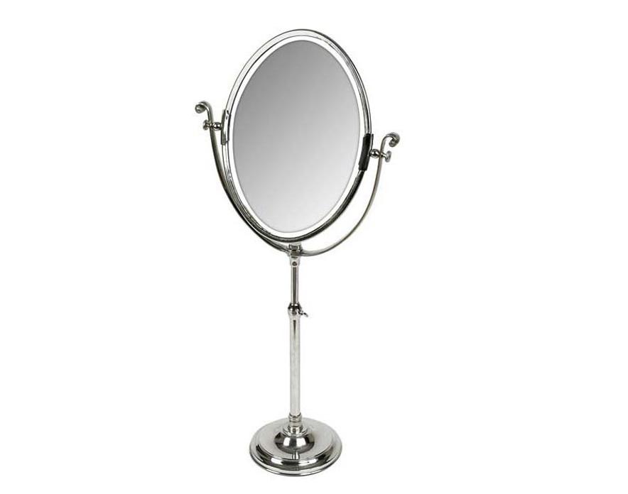 ЗеркалоНастольные зеркала<br>&amp;lt;div&amp;gt;&amp;lt;/div&amp;gt;&amp;lt;div&amp;gt;Классическое овальное зеркало – предмет, способный украсить любой интерьер. Дизайнеры голландской компании Eichholtz добавили традиционному аксессуару грациозности, закрепив его на высокой ножке. В качестве декоративного элемента использована тонкая дуга с изящными завитками на концах. Благодаря простому механизму зеркало можно поворачивать и изменять его высоту. &amp;amp;nbsp;&amp;lt;br&amp;gt;&amp;lt;/div&amp;gt;&amp;lt;div&amp;gt;&amp;lt;br&amp;gt;&amp;lt;/div&amp;gt;&amp;lt;div&amp;gt;Цвет металла: никель.&amp;lt;/div&amp;gt;<br><br>Material: Металл<br>Ширина см: 40<br>Высота см: 110<br>Глубина см: 85