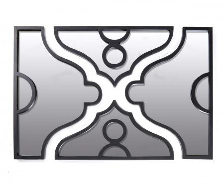Зеркало AntonellaНастенные зеркала<br>Креативный дизайн зеркала в металлической черной оправе поражает своей экстравагантностью. Состоящее из четырех, витиеватой формы, фрагментов, каждый снабжен заслонкой и ручкой,  в закрытом состоянии - это пано, со скрытым смыслом. Зеркало создает   неповторимую атмосферу в доме.<br><br>Material: Металл<br>Width см: 122<br>Depth см: 5<br>Height см: 84