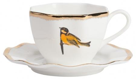 Чайная пара WelleЧайные пары, чашки и кружки<br><br><br>Material: Фарфор<br>Height см: 7<br>Diameter см: 11