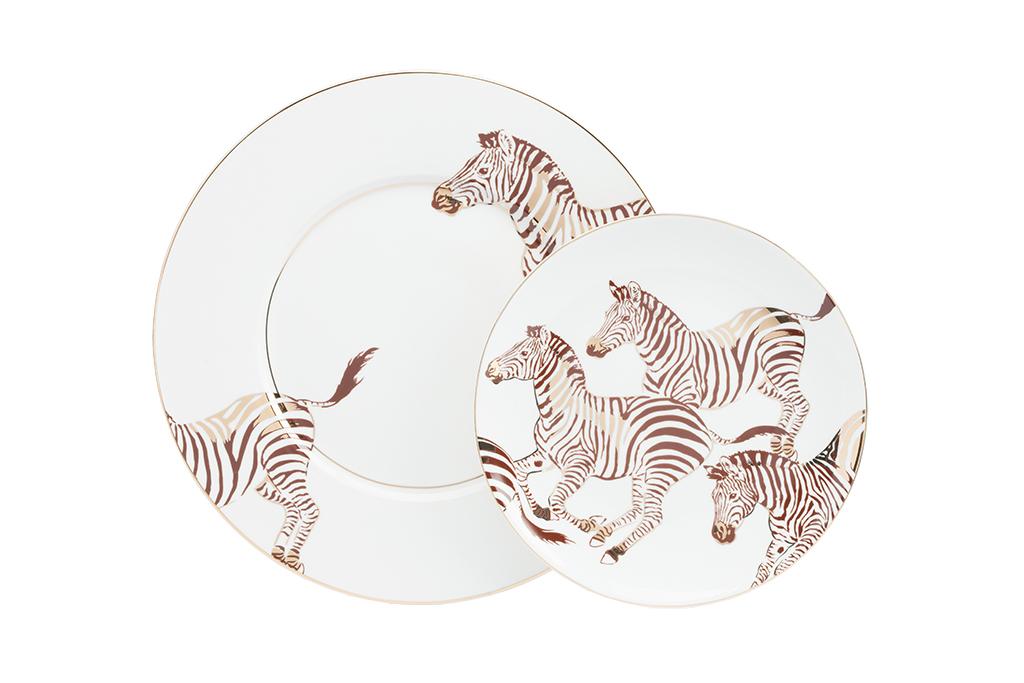 Комплект тарелок CebraДекоративные тарелки<br><br><br>Material: Фарфор<br>Diameter см: ?25,5 ?20