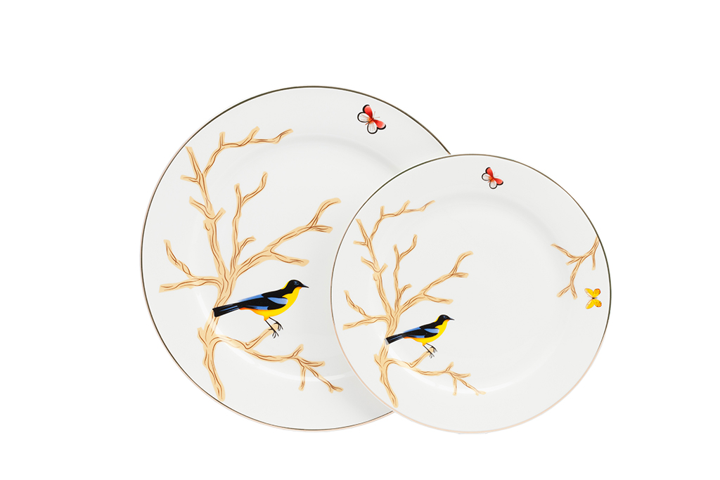 Комплект тарелок TimouseДекоративные тарелки<br><br><br>Material: Фарфор<br>Diameter см: ?25.5 ?19