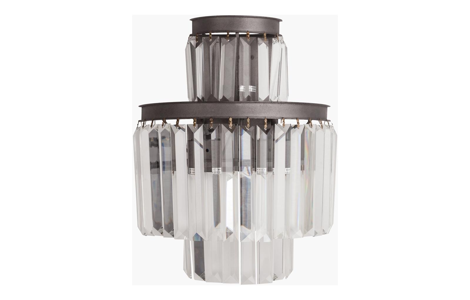 Настенный светильник Saliel PiccoloБра<br>&amp;lt;div&amp;gt;Современный настенный светильник SALIEL, благодаря своей форме, создает оригинальное рассеивание света. Дизайн светильников коллекции Saliel поразит воображение самого искушенного зрителя. Безупречное исполнение и оригинальное стилевое решение светильника SALIEL помогут вам выразить собственное представление о прекрасном и создать уникальный и интересный интерьер. Приобретенные в нашем интернет-магазине настенные светильники станут прекрасным дополнением к люстре из коллекции Saliel.&amp;lt;/div&amp;gt;&amp;lt;div&amp;gt;Мощность ламп: 40W&amp;lt;/div&amp;gt;&amp;lt;div&amp;gt;Тип лампочки: E14&amp;lt;/div&amp;gt;&amp;lt;div&amp;gt;Количество ламп: 3&amp;lt;/div&amp;gt;<br><br>Material: Хрусталь<br>Высота см: 42