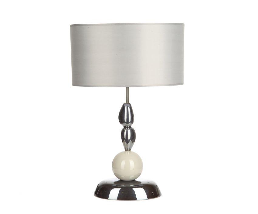 Настольная  лампаДекоративные лампы<br>Стильная лампа настольная, каждый элемент основания которой как будто балансирует один над другим. Такая лампа станет эффектным украшением рабочего кабинета.&amp;lt;div&amp;gt;&amp;lt;br&amp;gt;&amp;lt;/div&amp;gt;&amp;lt;div&amp;gt;&amp;lt;div&amp;gt;Вид цоколя: E27&amp;lt;/div&amp;gt;&amp;lt;div&amp;gt;Мощность: 60W&amp;lt;/div&amp;gt;&amp;lt;div&amp;gt;Количество ламп: 1&amp;lt;/div&amp;gt;&amp;lt;/div&amp;gt;<br><br>Material: Керамика<br>Length см: 40.5<br>Width см: 26<br>Height см: 63.5