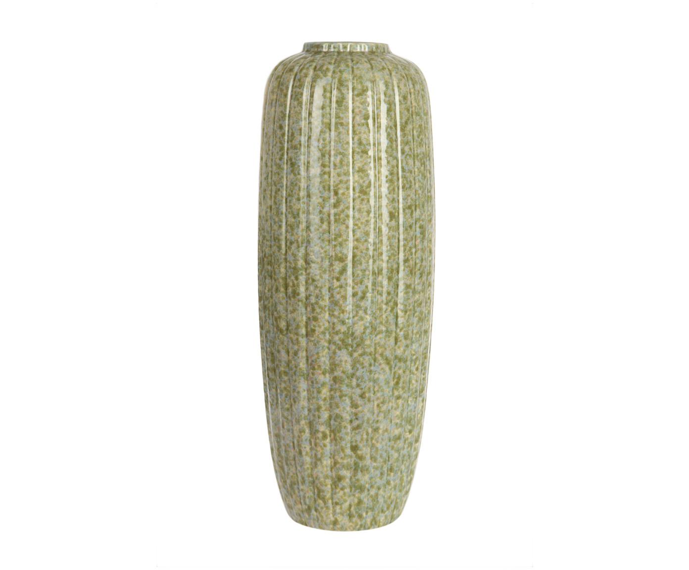 Ваза декоративнаяВазы<br>Керамическая декоративная ваза от португальского бренда Farol близка к этническому стилю. Сочетание абстрактных голубых, зеленых и песочно-желтых пятен создает впечатление неоднородной мраморной поверхности, как у древней античной вазы, поднятой со дна океана, позеленевшей от времени и водорослей.<br><br>Material: Керамика<br>Ширина см: 18<br>Высота см: 50.0