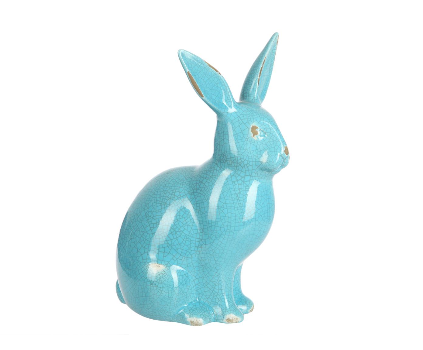 Предмет декораСтатуэтки<br>Милый декоративный винтажный кролик из керамики. Глянцевая голубая глазуровка с искусственными повреждениями и эффектом кракле создает впечатление того, что этот предмет декора передается в вашей семье из поколения в поколение, и когда-то им любовался еще ваш прадедушка.<br><br>Material: Керамика<br>Ширина см: 20<br>Высота см: 38