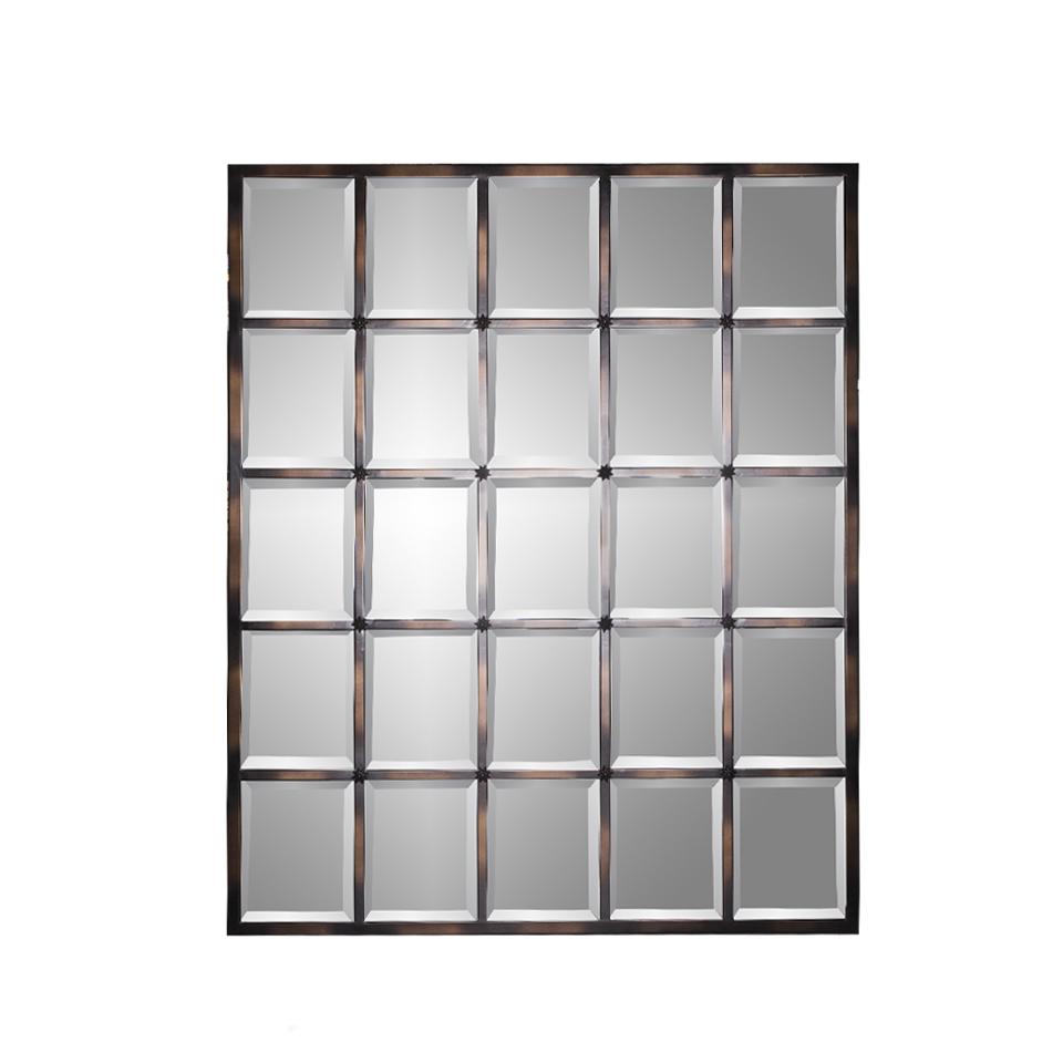 Зеркало ВентураНастенные зеркала<br>Амальгама зеркала выполнена из натурального серебра, что создает эффект благородной старины.<br><br>Material: Металл<br>Length см: None<br>Width см: 115<br>Depth см: 3<br>Height см: 141